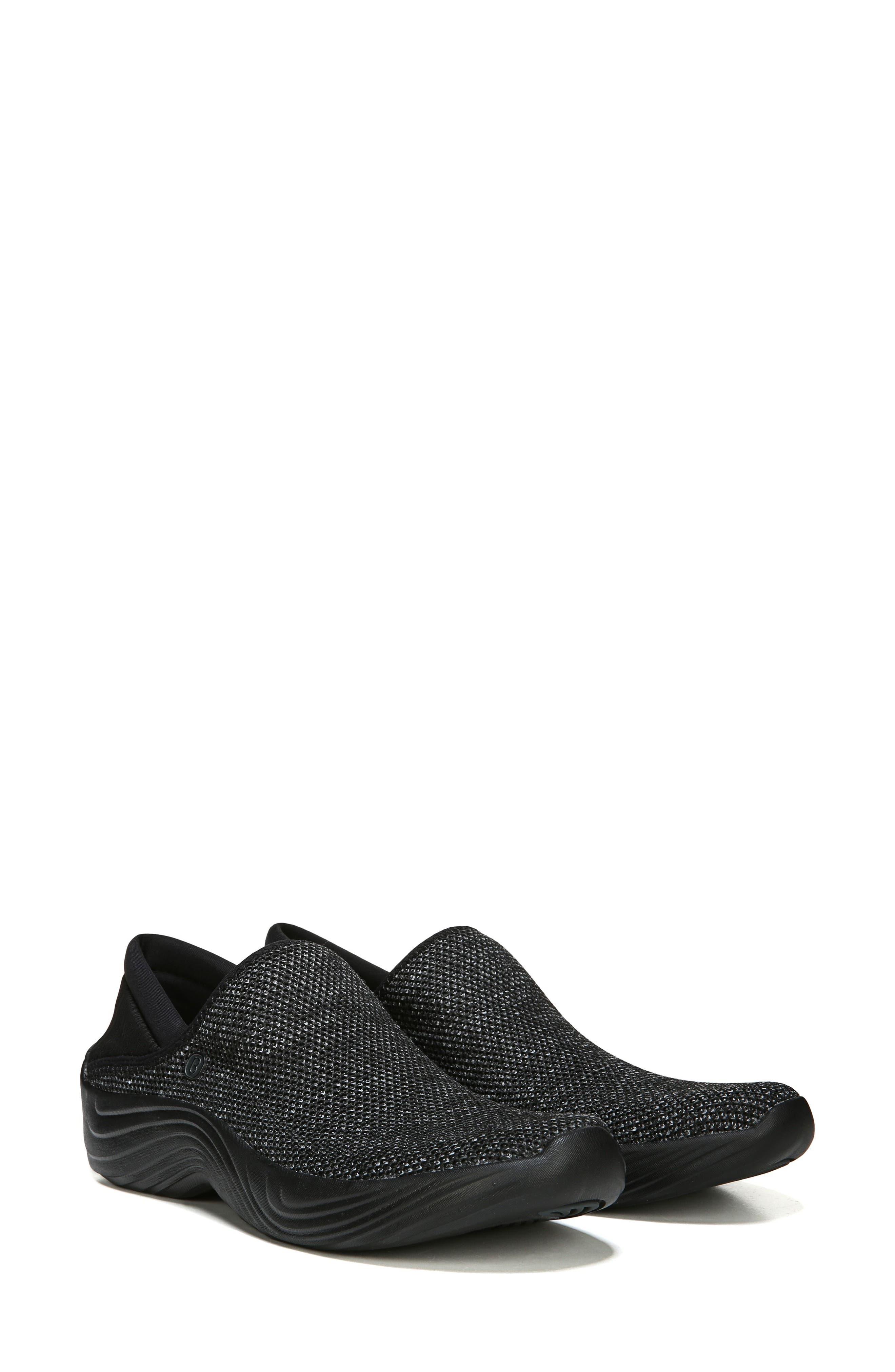 Topaz Slip-On Sneaker,                             Alternate thumbnail 8, color,                             BLACK FABRIC