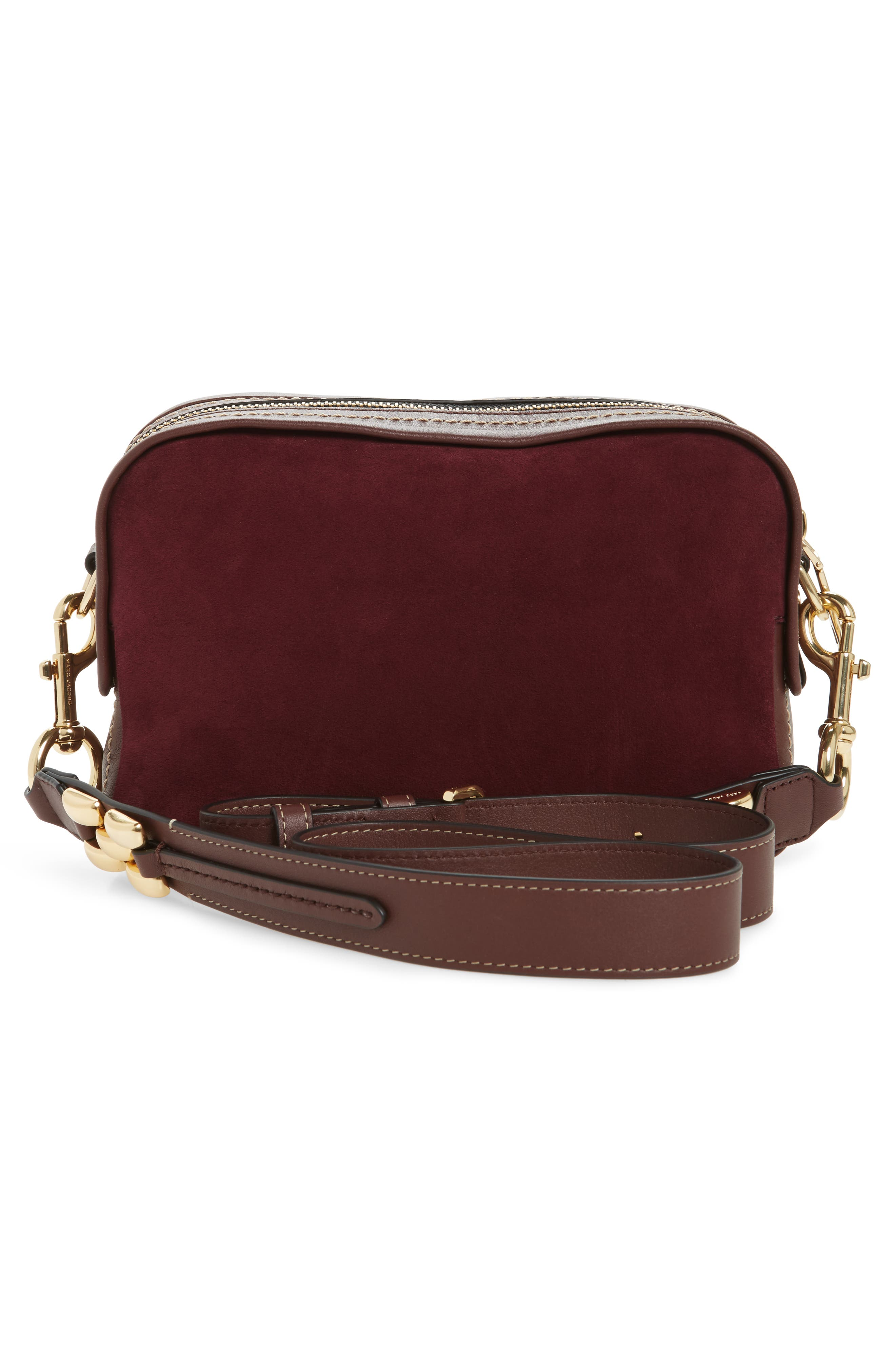 The Squeeze Suede & Leather Shoulder Bag,                             Alternate thumbnail 9, color,