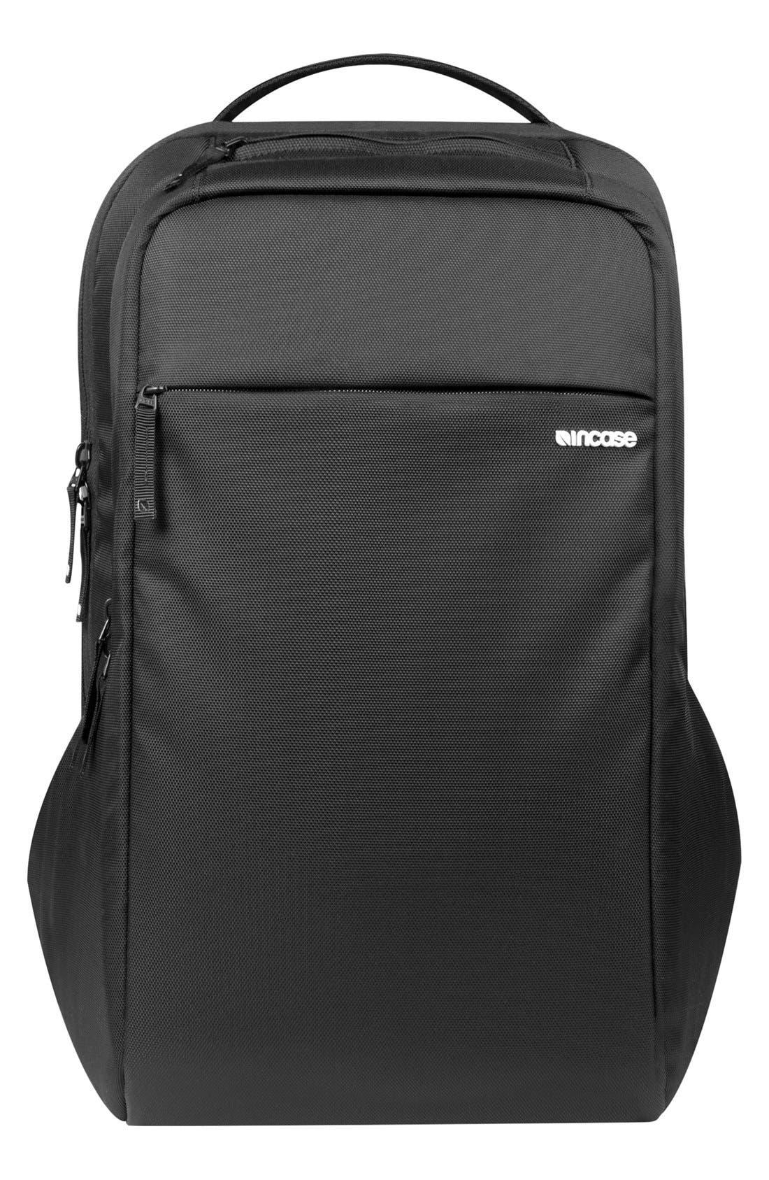 Icon Slim Backpack,                         Main,                         color, BLACK