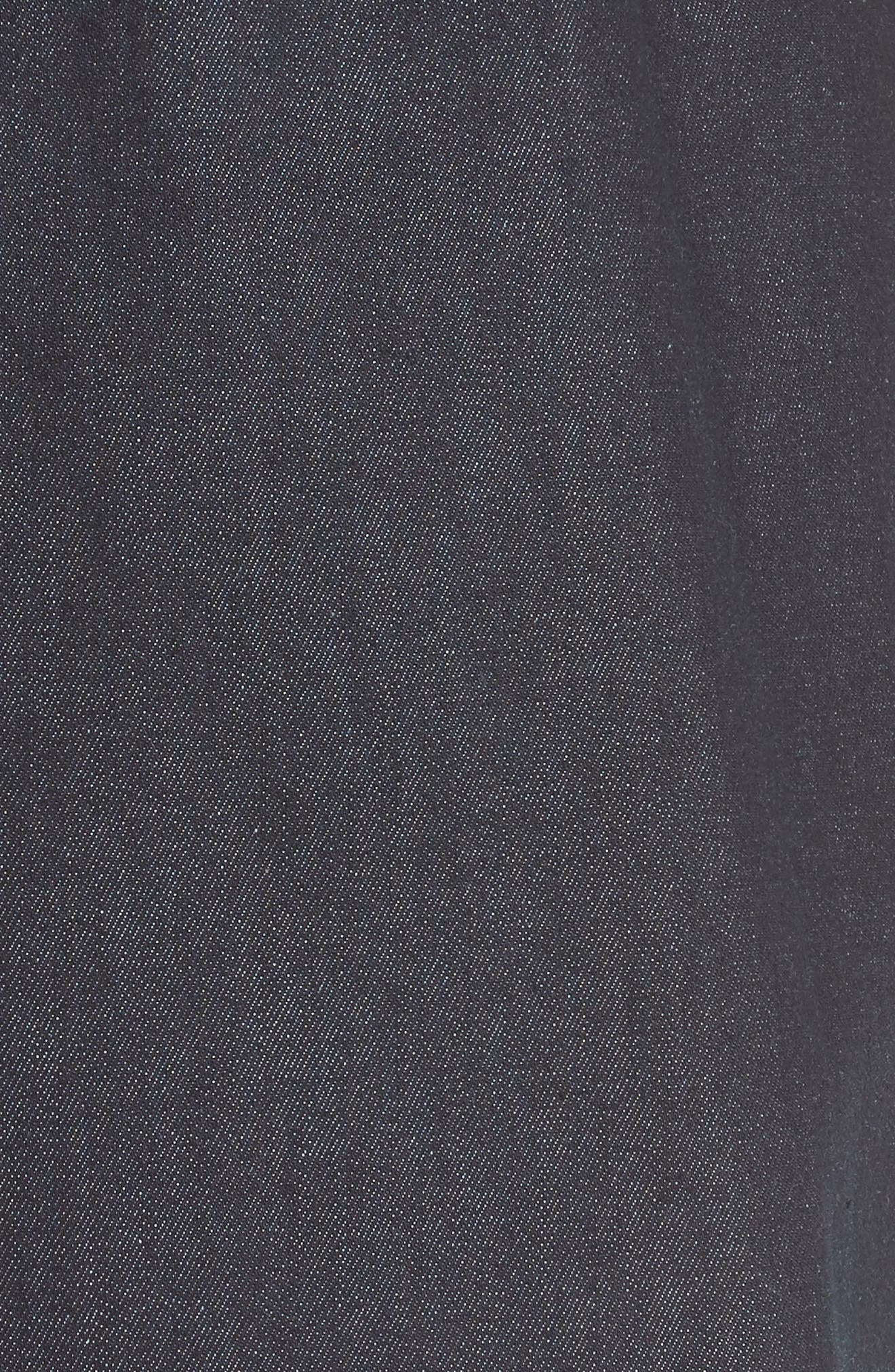 rivet detail denim fit & flare dress,                             Alternate thumbnail 5, color,                             INDIGO