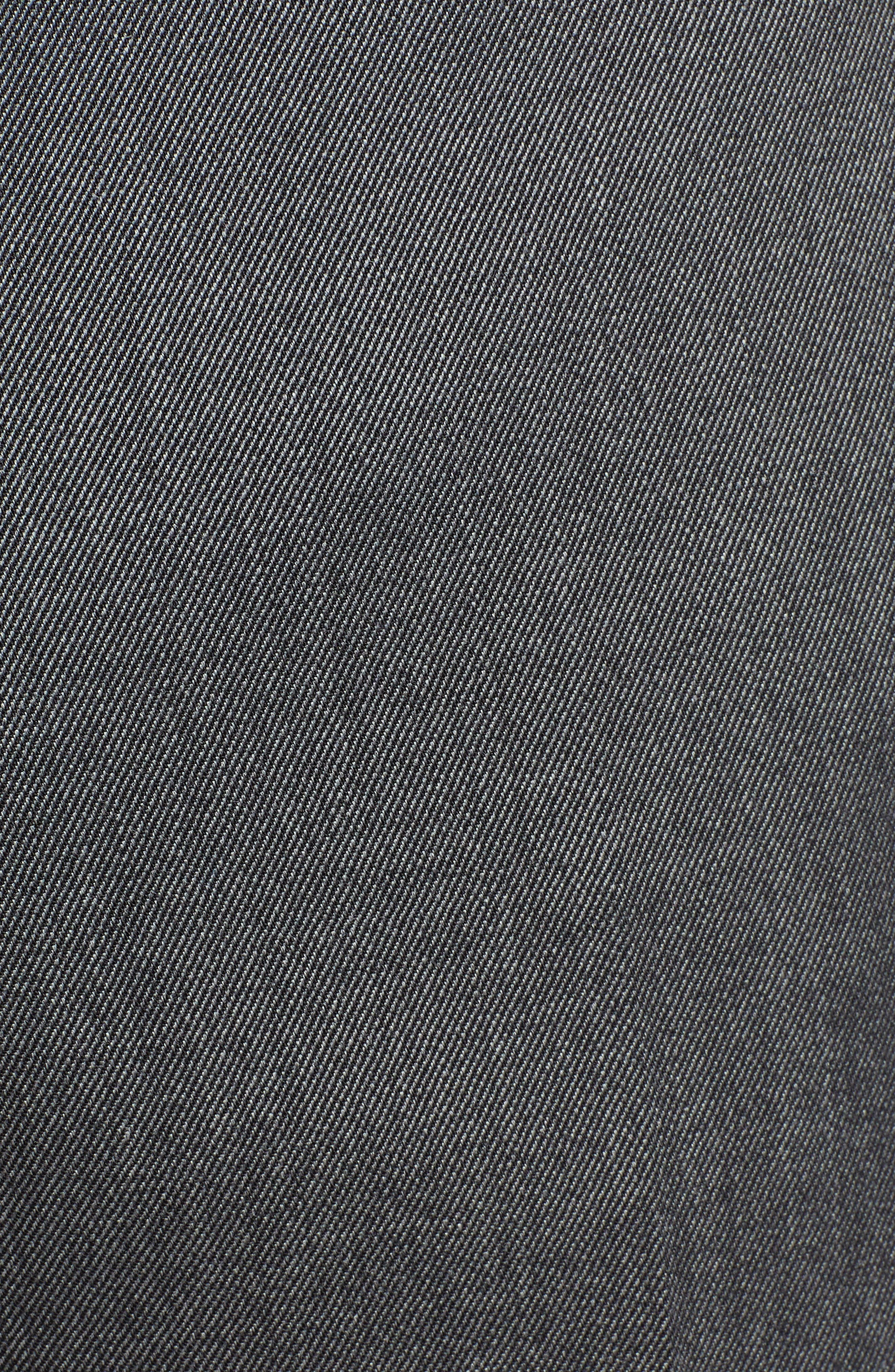 Parker Flat Front Stretch Twill Wool Trousers,                             Alternate thumbnail 5, color,                             GREY