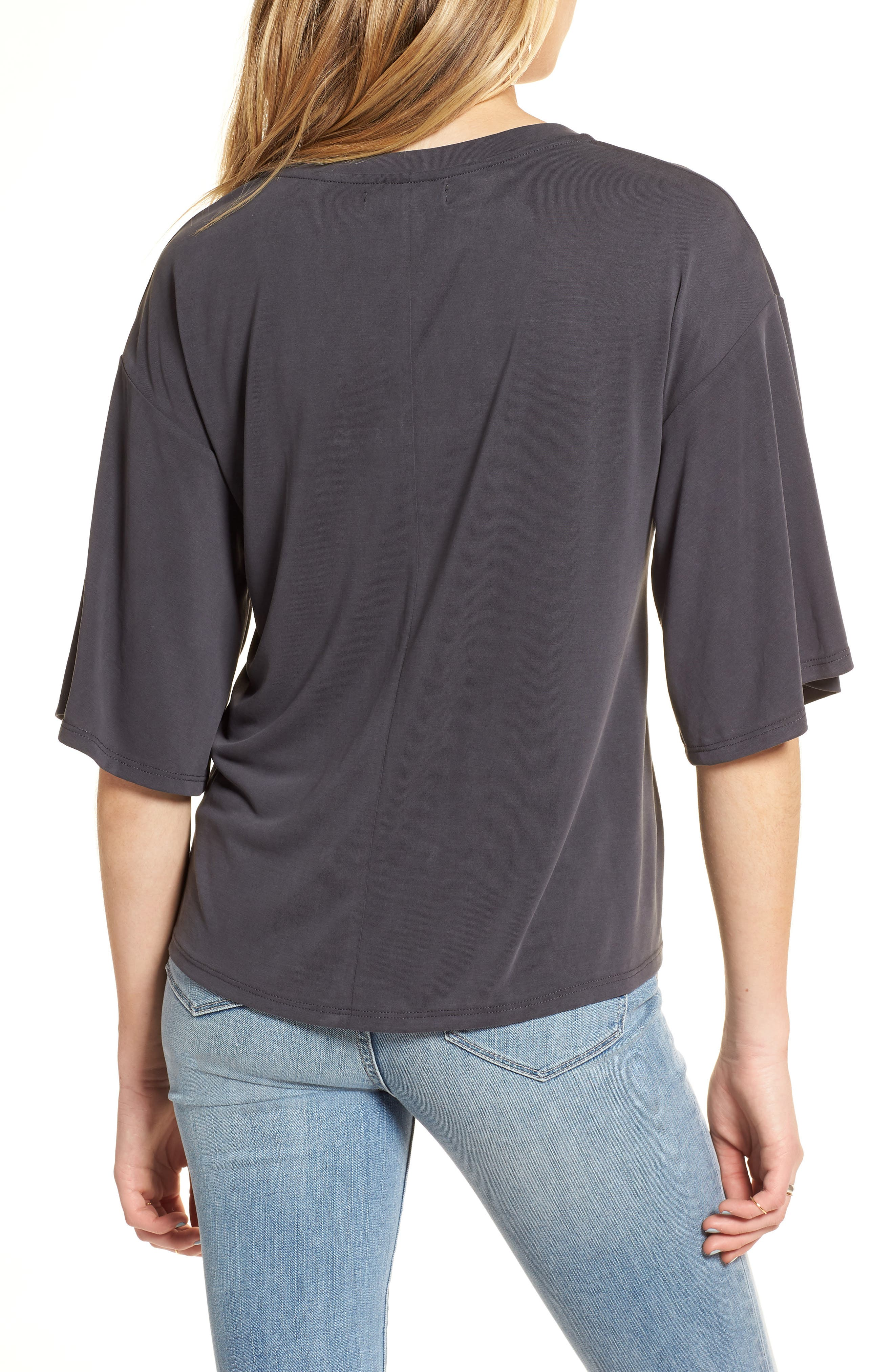 Lace-Up Tee,                             Alternate thumbnail 3, color,