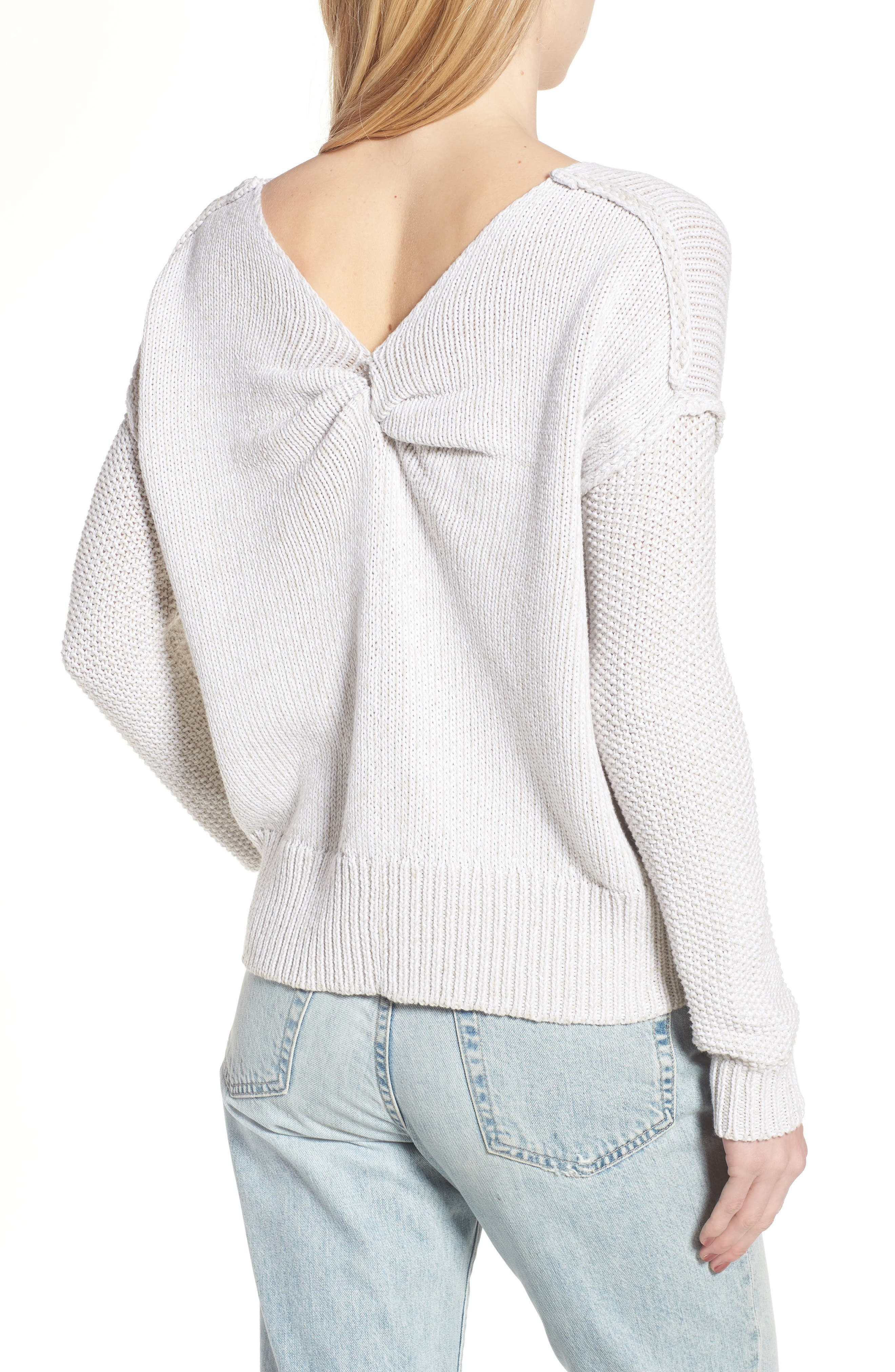 Lola Reversible Twist Sweater,                             Alternate thumbnail 2, color,                             100