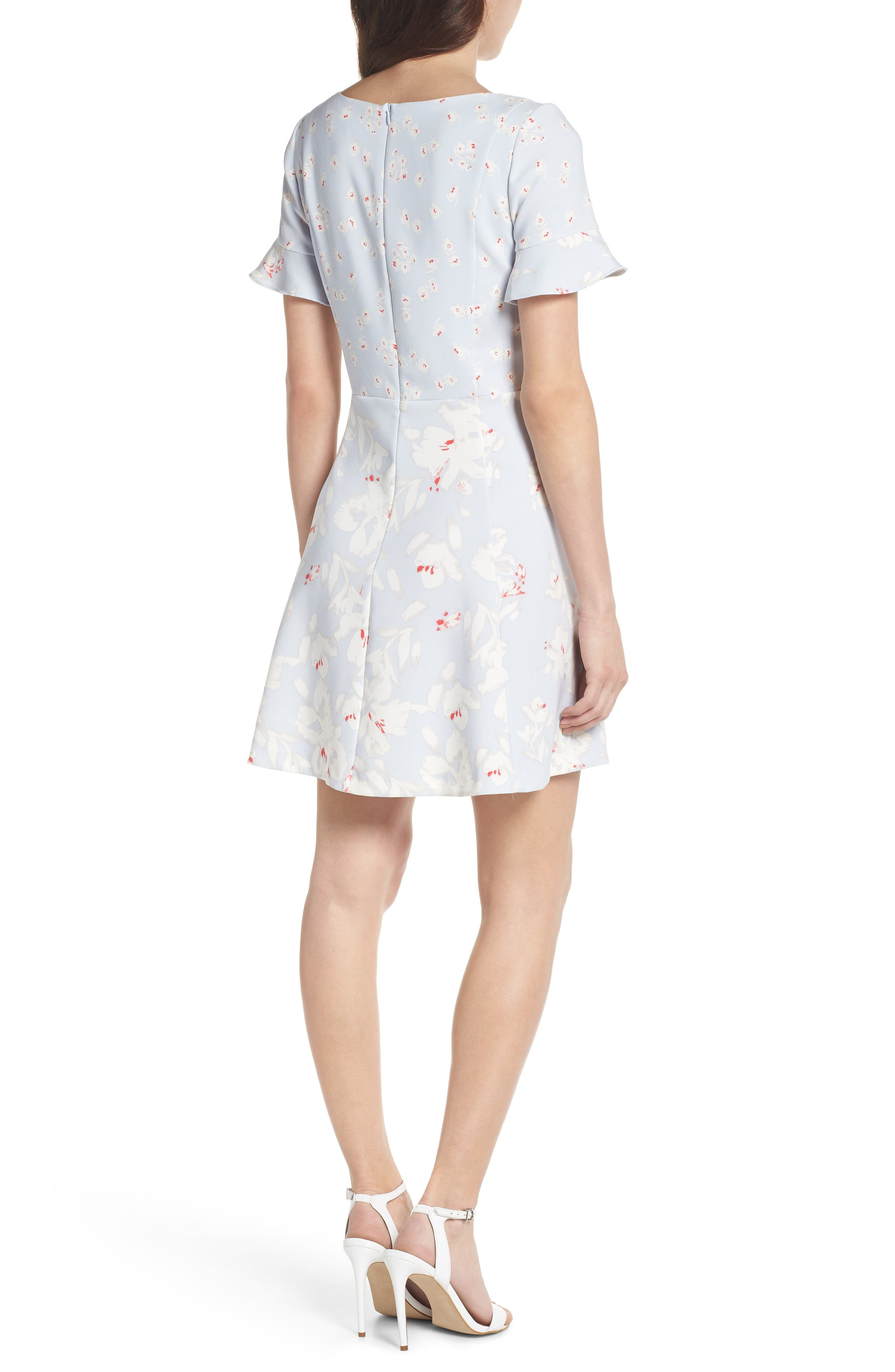 Alba Scoop Neck A-Line Dress,                             Alternate thumbnail 2, color,                             450