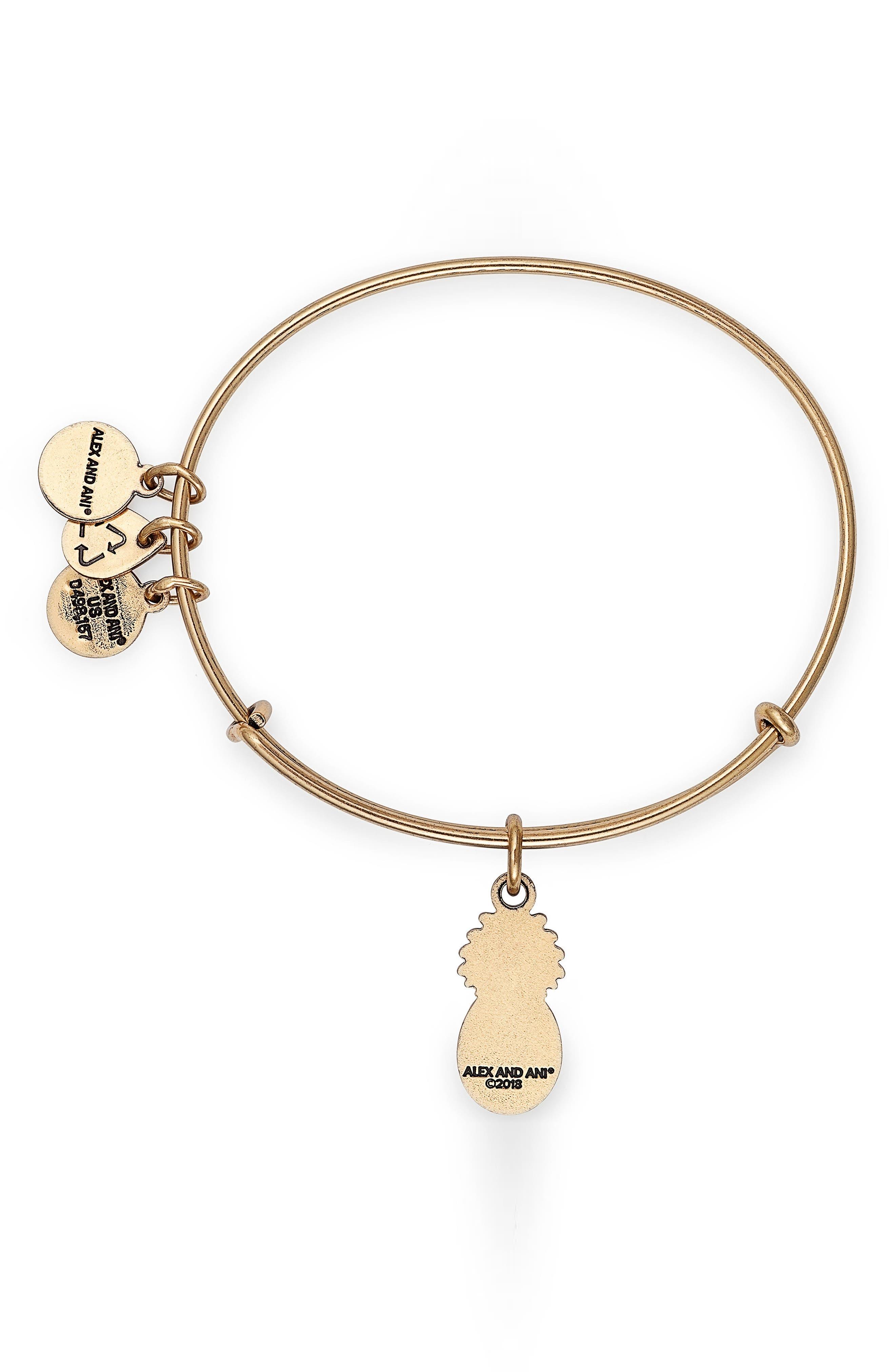 Pineapple Color Infusion Expandable Charm Bracelet,                             Alternate thumbnail 2, color,                             GOLD