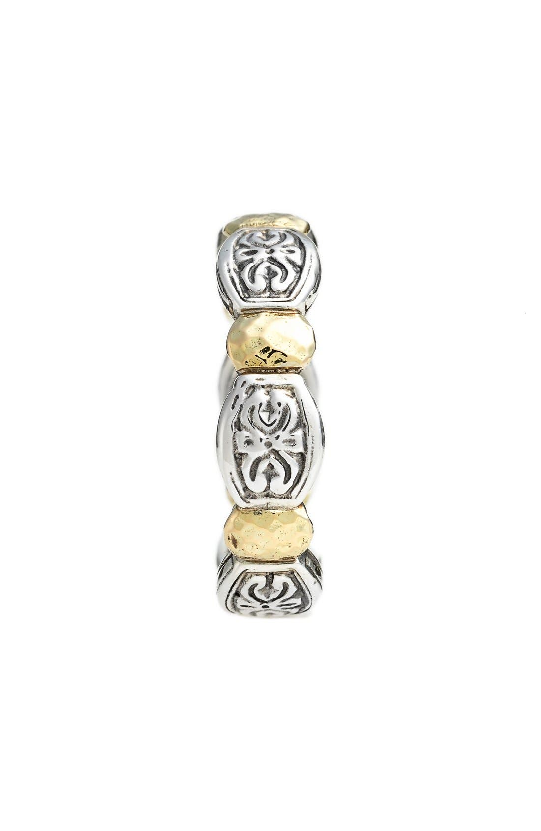 'Aspasia' Hammered Band Ring,                             Alternate thumbnail 2, color,                             SILVER/ GOLD