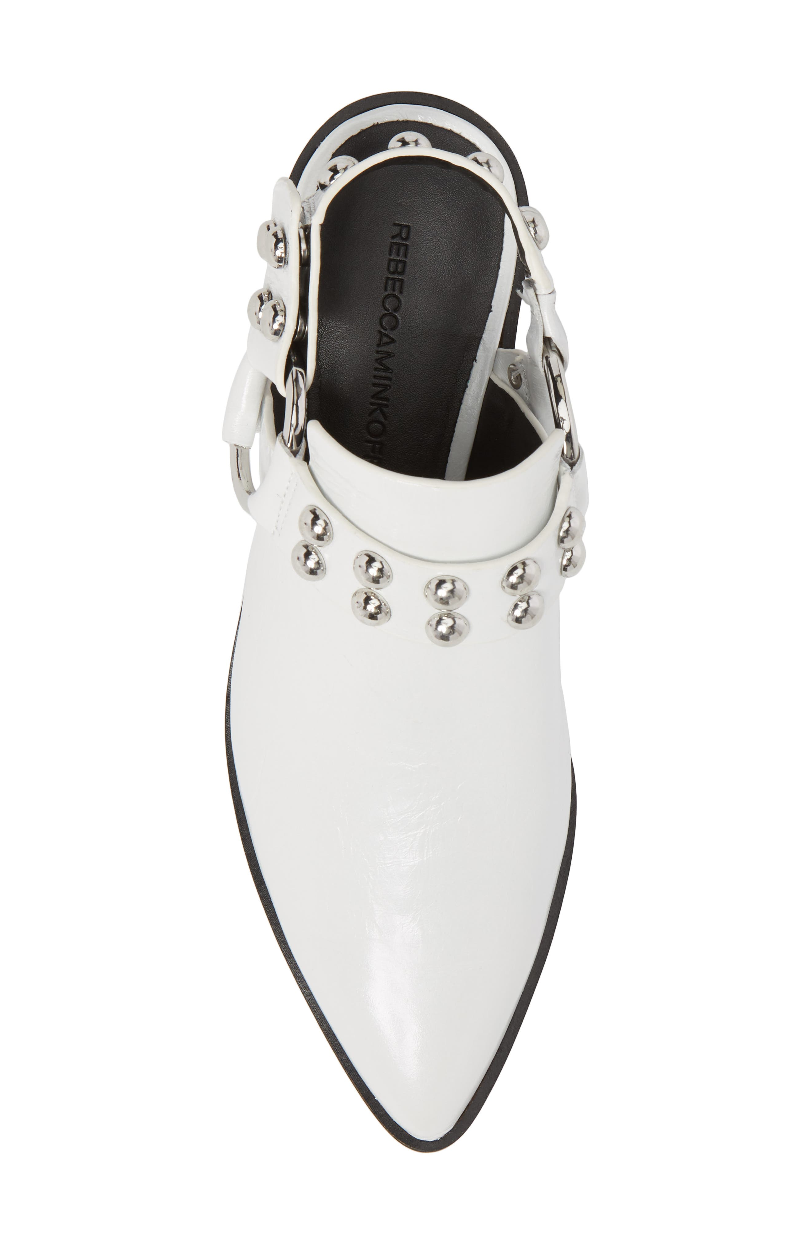 Korlyn Studded Bootie,                             Alternate thumbnail 5, color,                             WHITE LEATHER