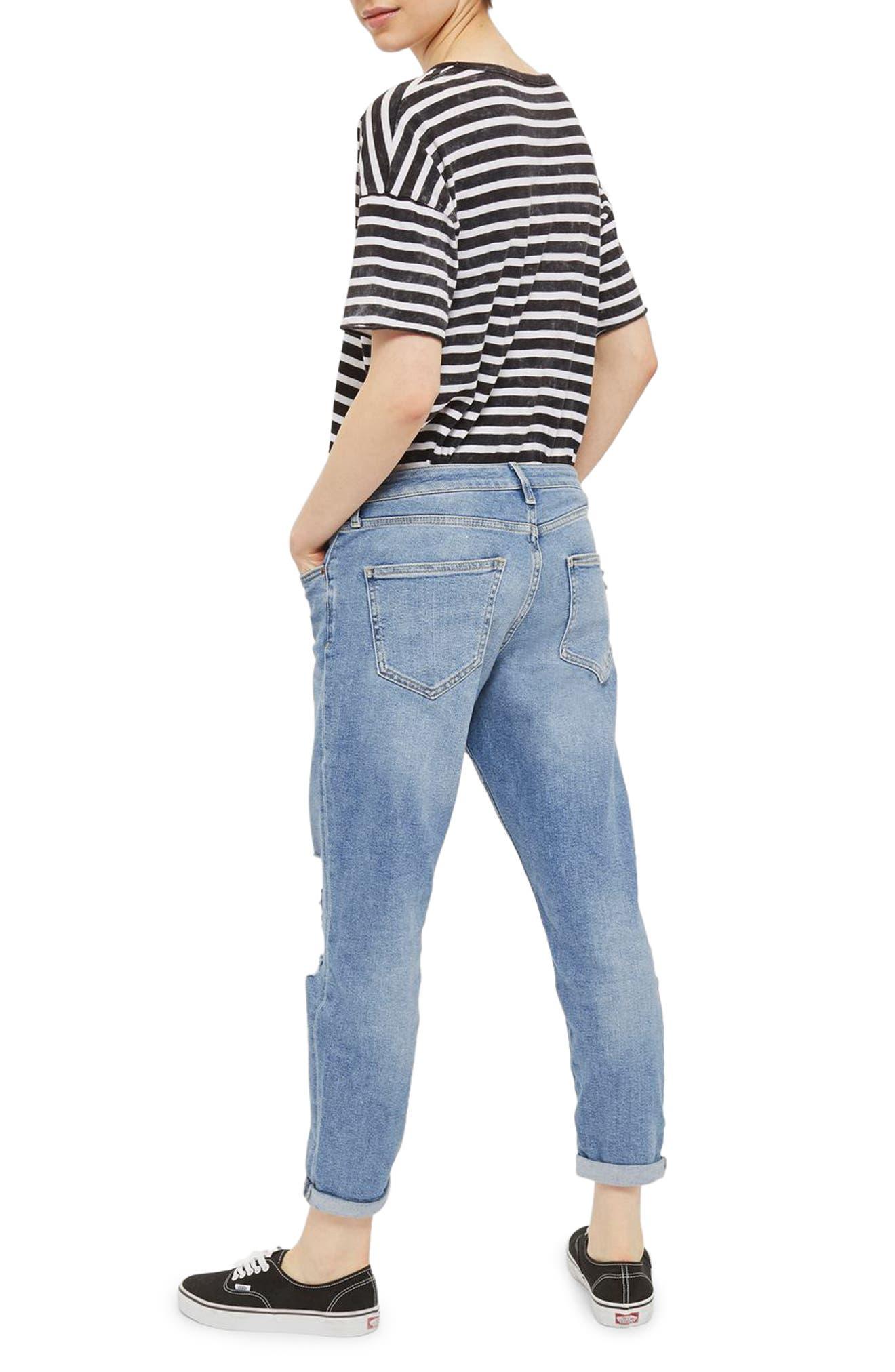 Lucas Rip Boyfriend Jeans,                             Alternate thumbnail 2, color,