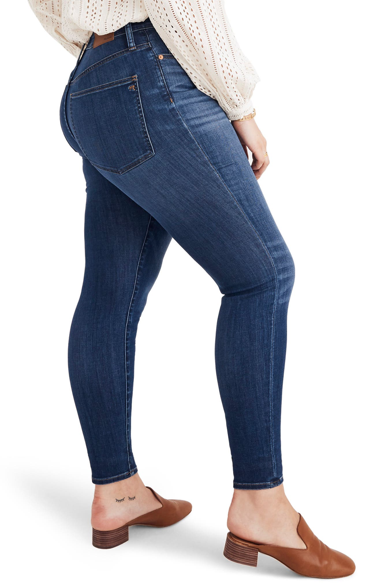 Curvy High Waist Skinny Jeans,                             Alternate thumbnail 7, color,                             DANNY