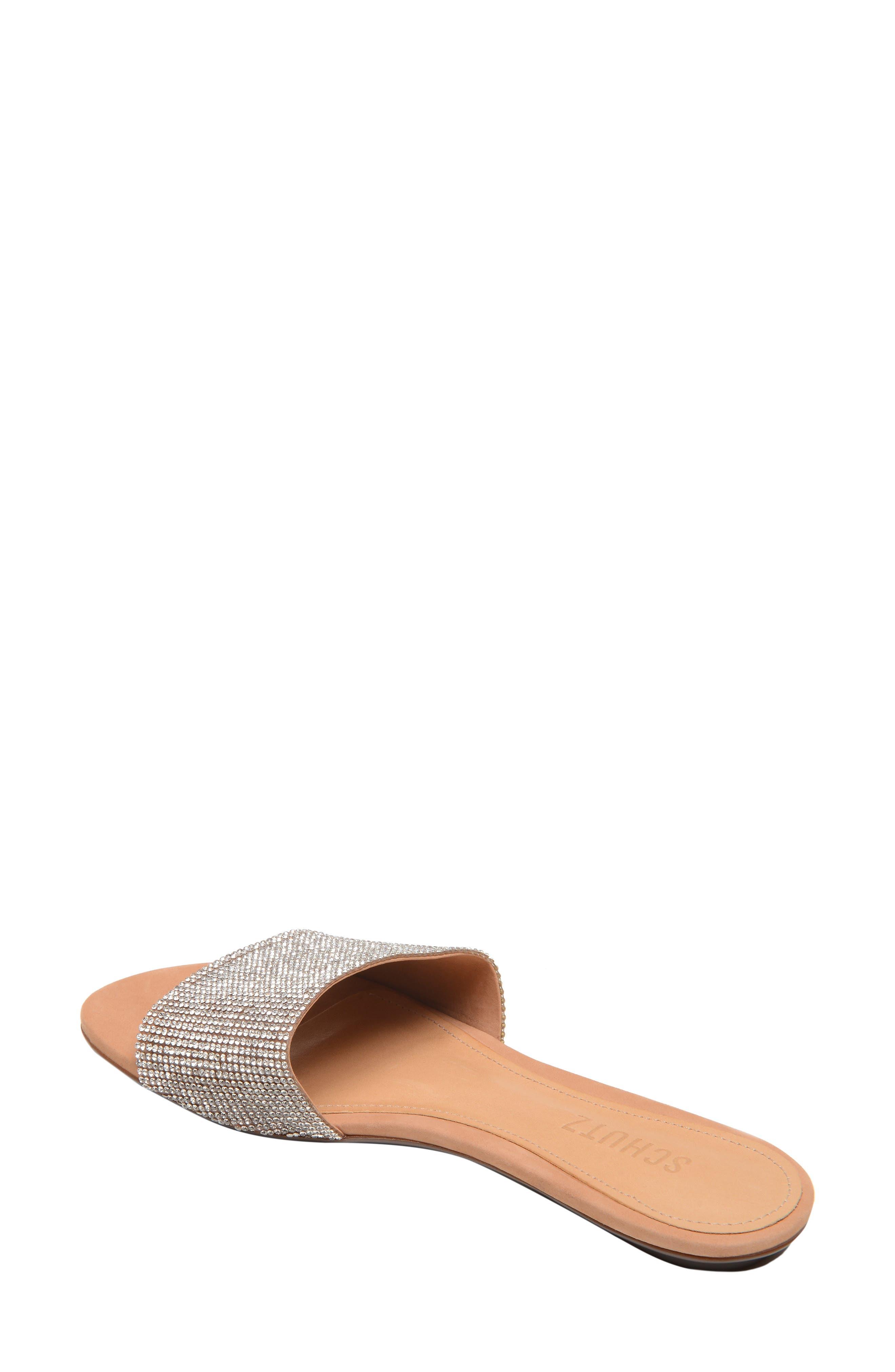 Queren Embellished Slide Sandal,                             Alternate thumbnail 2, color,                             CRISTAL