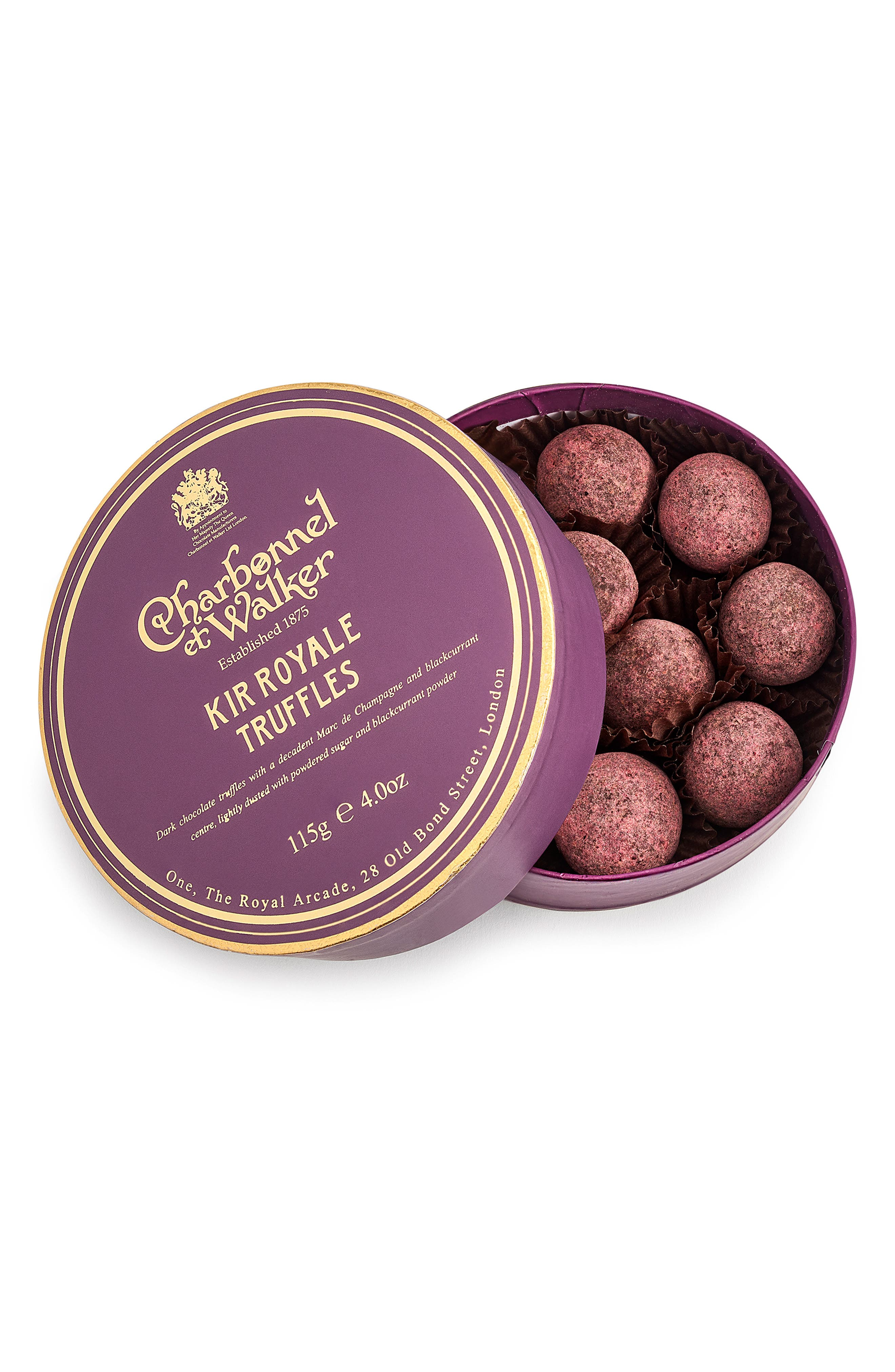 Flavored Chocolate Truffles in Gift Box,                             Main thumbnail 1, color,                             KIR ROYALE