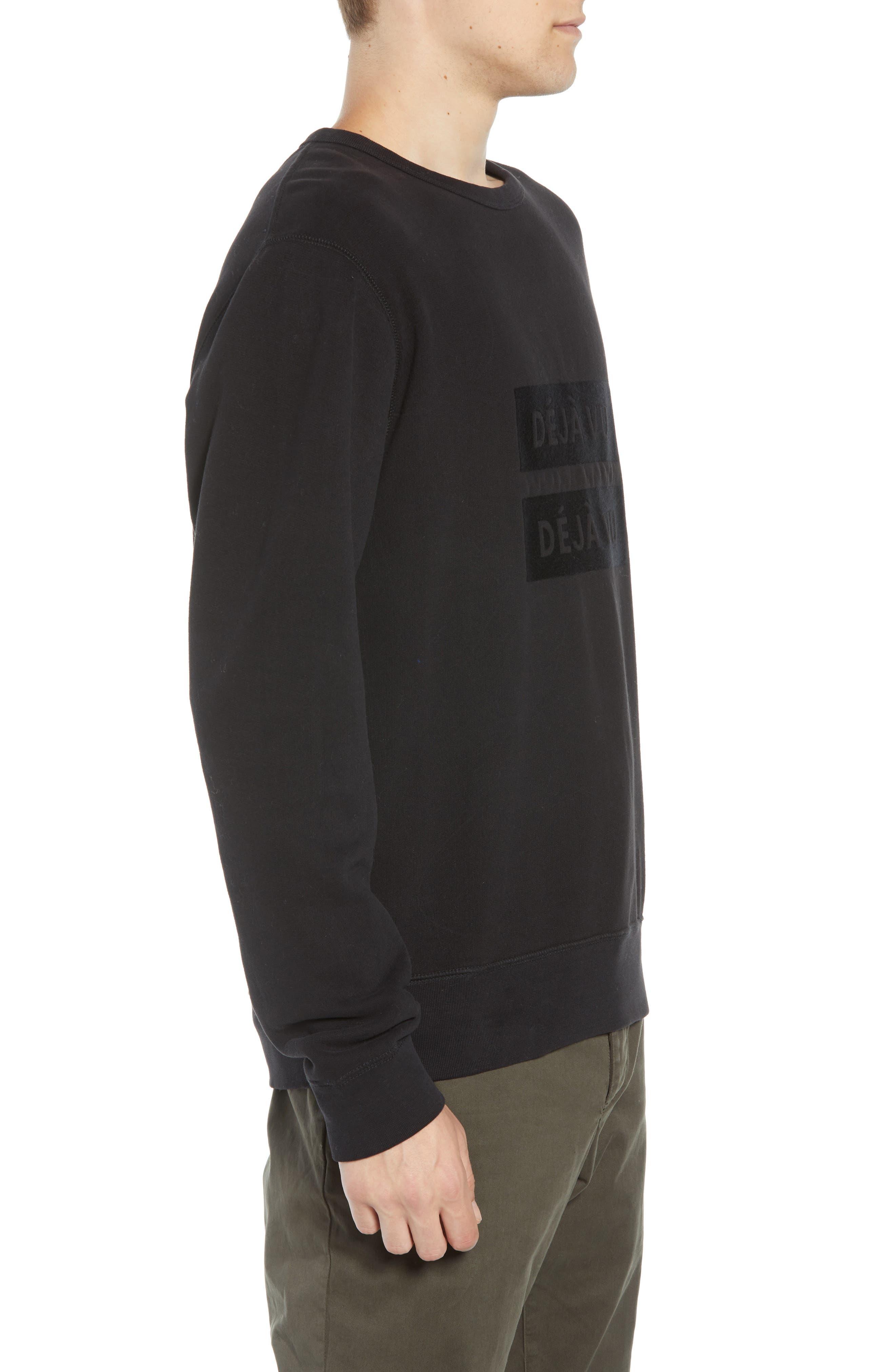 Déjà Vu Sweatshirt,                             Alternate thumbnail 3, color,                             BLACK BLACK
