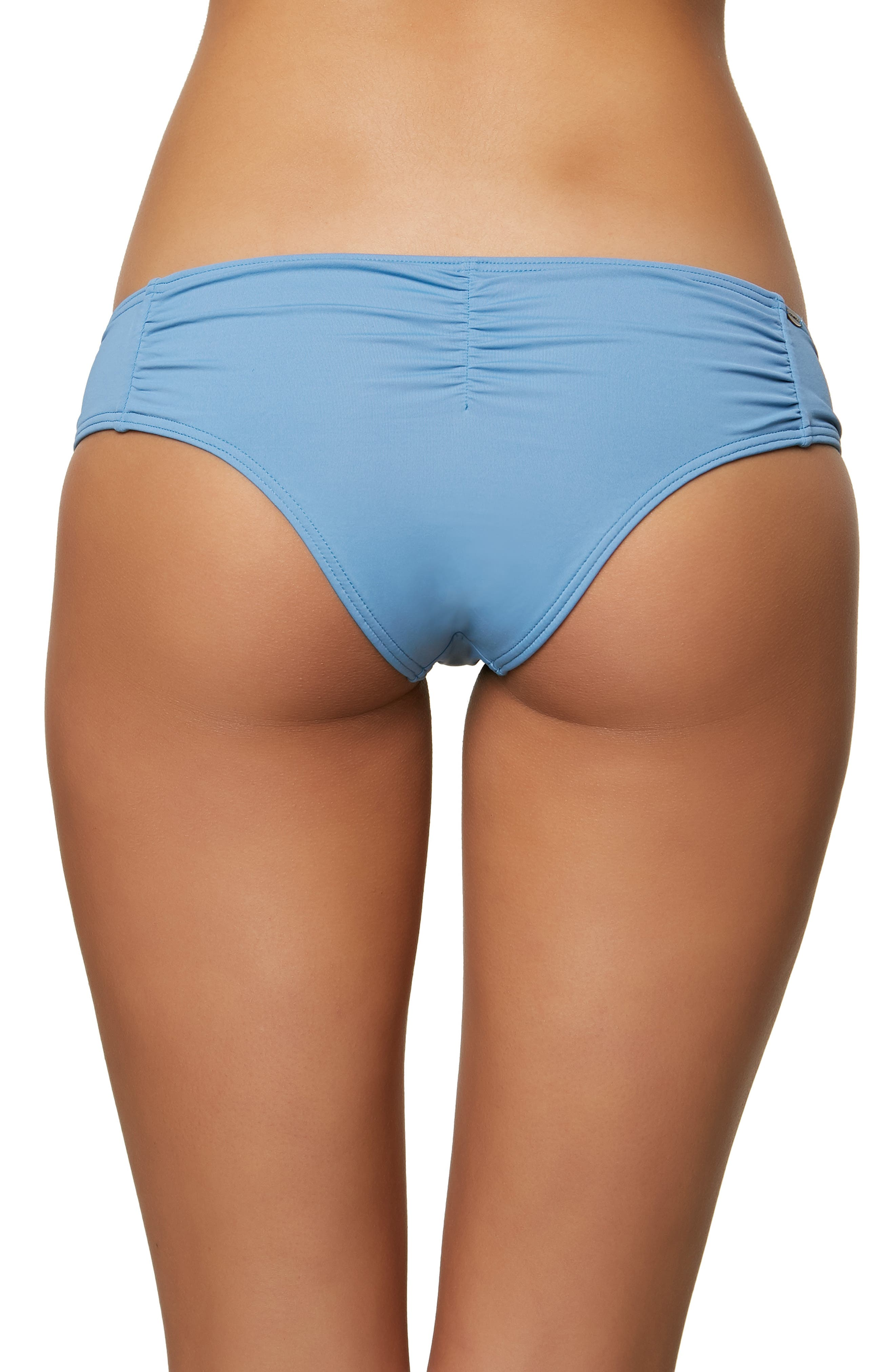 Salt Water Solids Hipster Bikini Bottoms,                             Alternate thumbnail 2, color,                             WASHED INDIGO