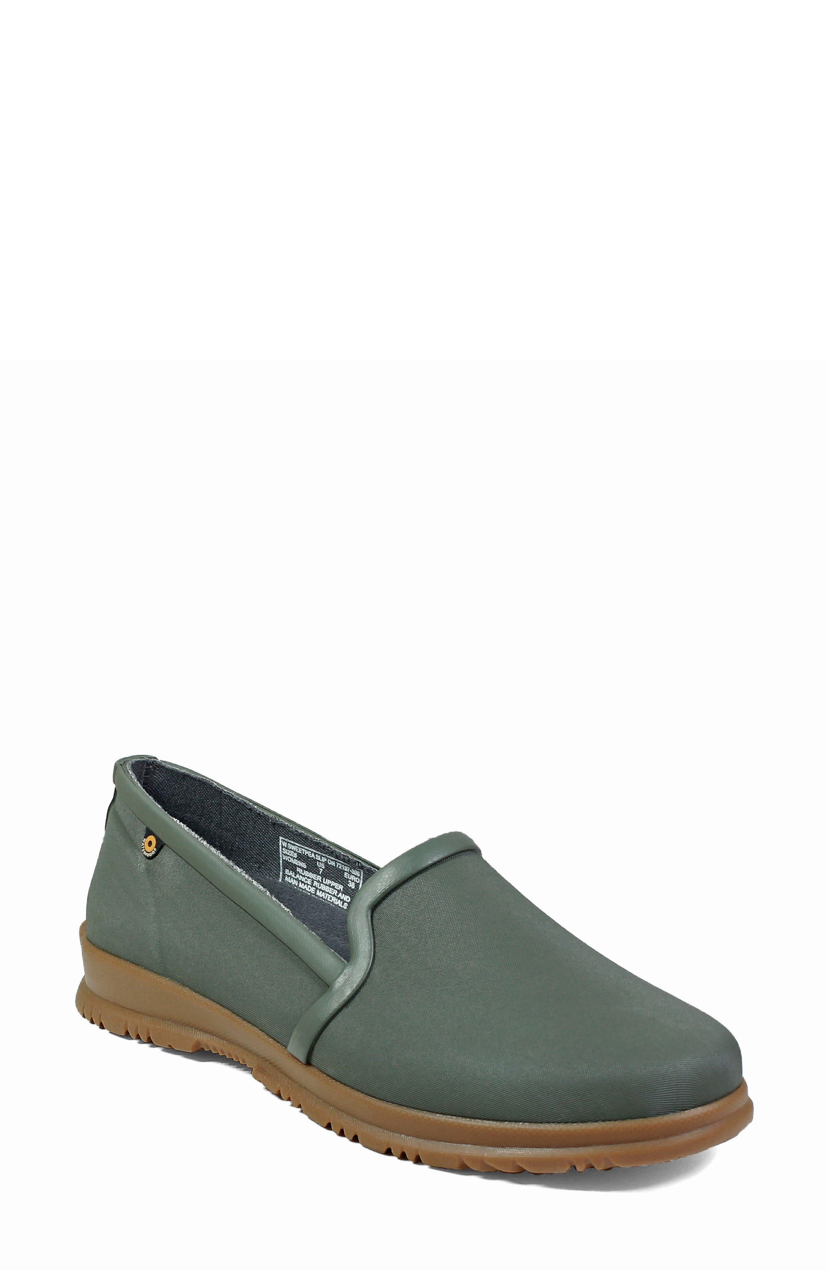 BOGS,                             Sweetpea Waterproof Slip-On Sneaker,                             Main thumbnail 1, color,                             SAGE