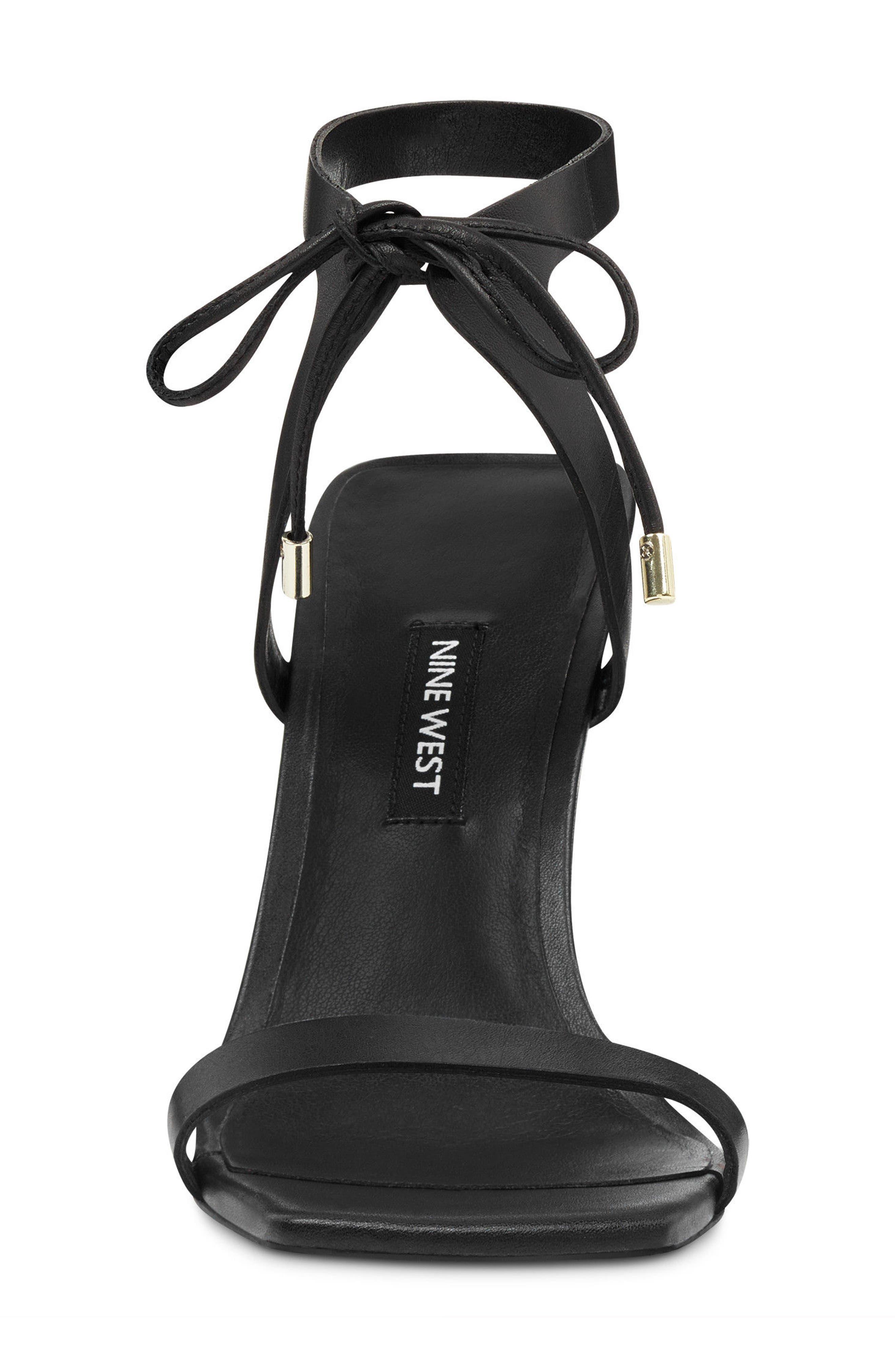 Longitano Squared Toe Sandal,                             Alternate thumbnail 4, color,                             BLACK LEATHER