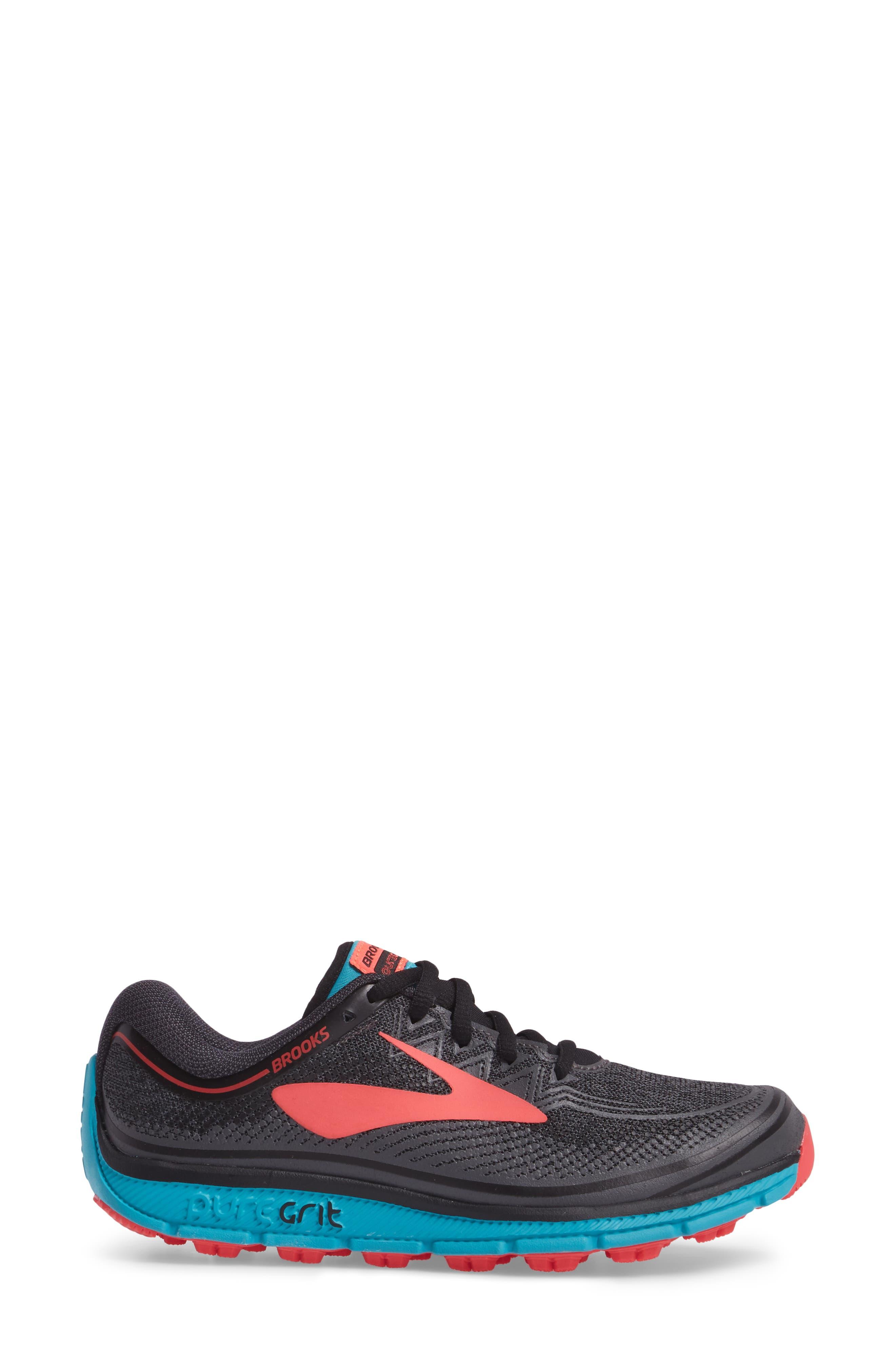 PureGrit 6 Trail Running Shoe,                             Alternate thumbnail 3, color,                             014