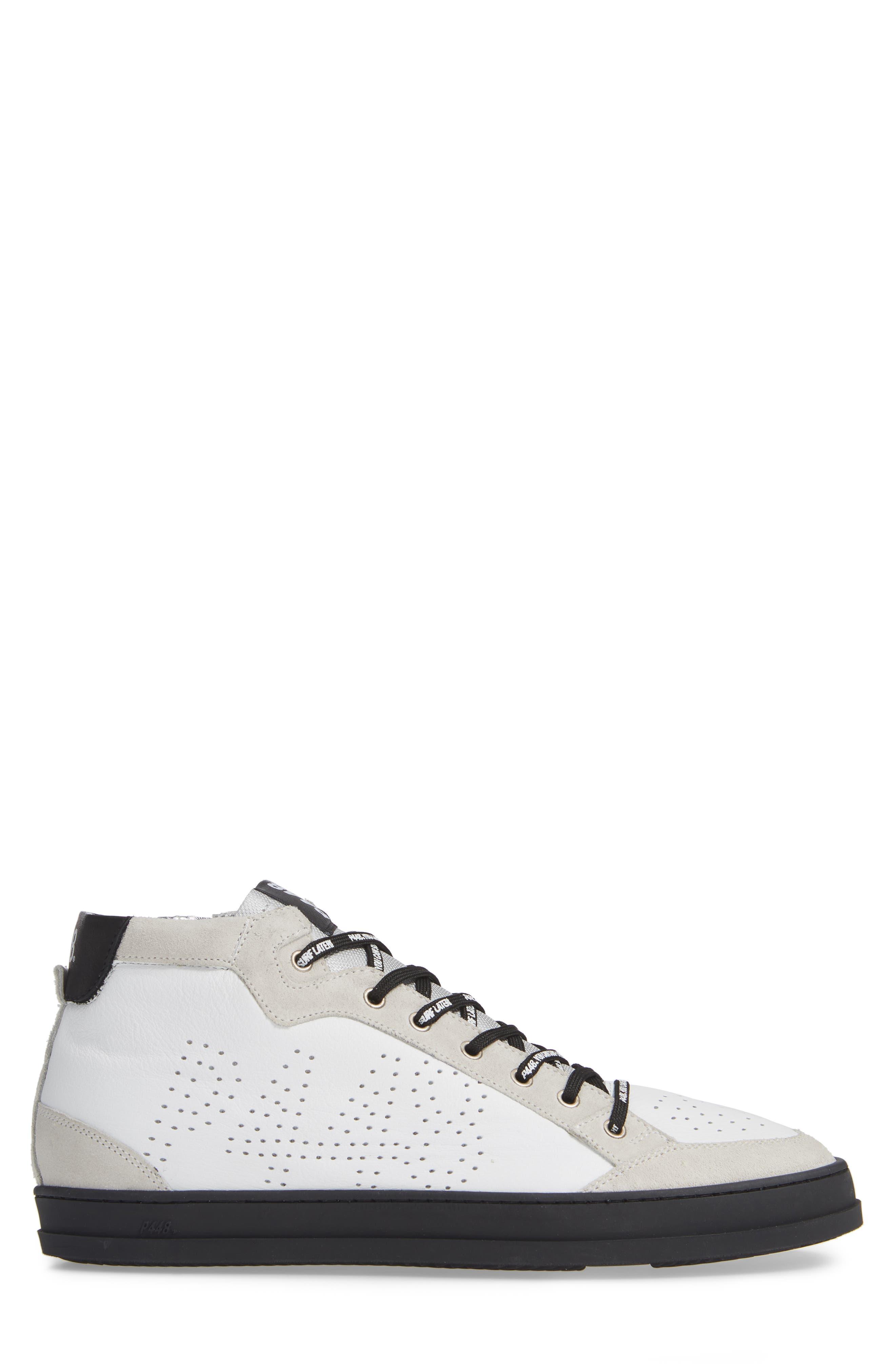 A8Love Mid Top Sneaker,                             Alternate thumbnail 3, color,                             WHITE/ BLACK
