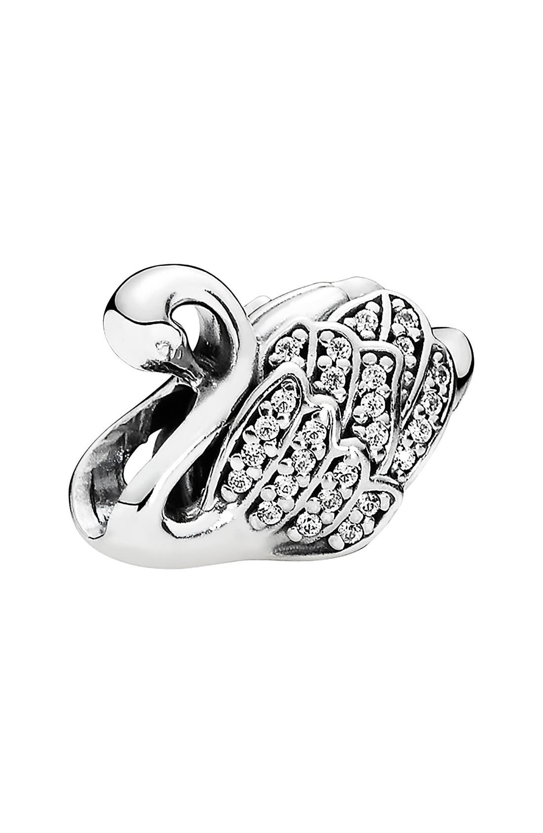 'Majestic Swan' Charm, Main, color, 040