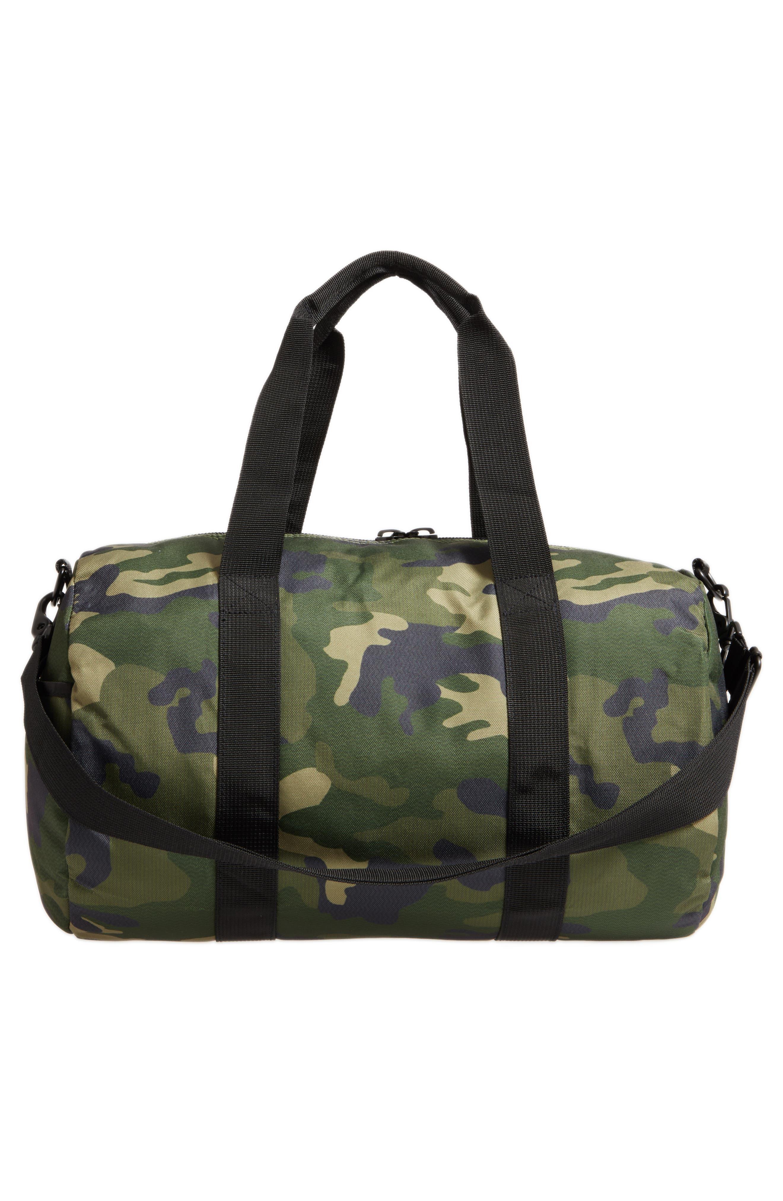 Roadie Small Duffel Bag,                             Alternate thumbnail 3, color,                             GREEN CAMO