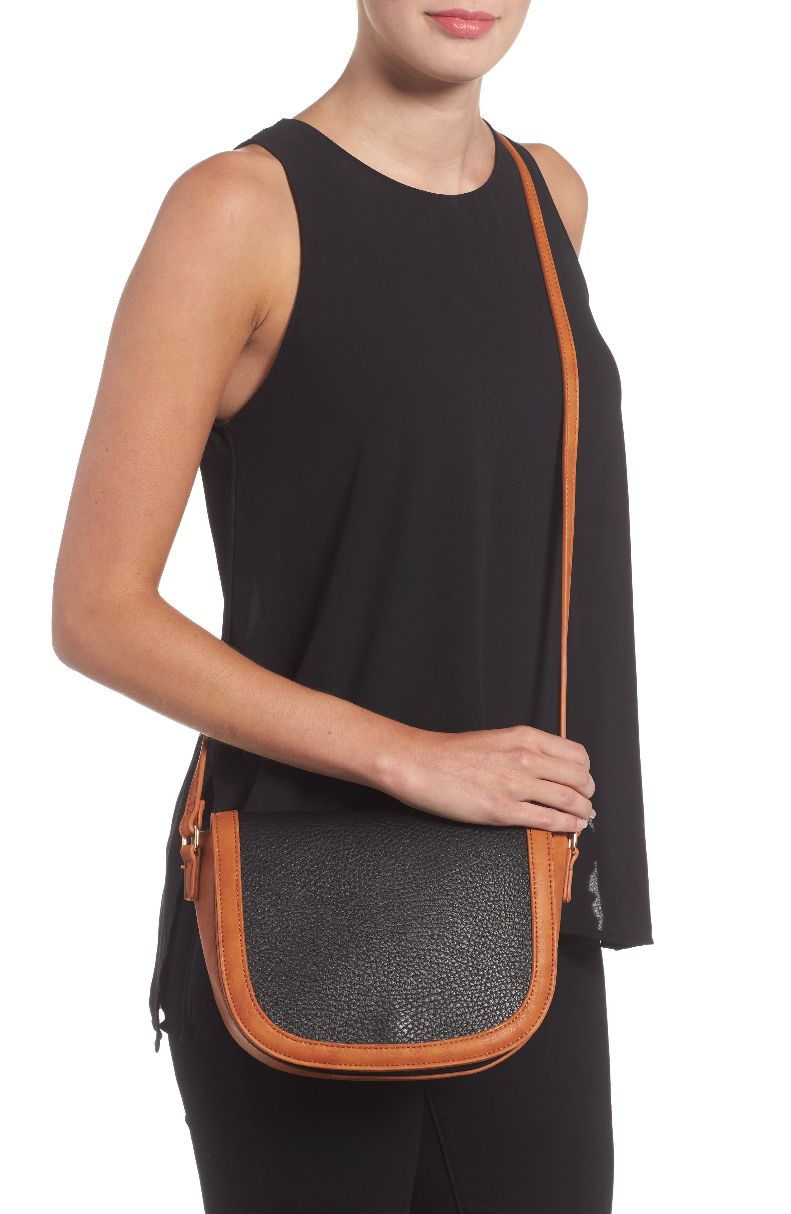 Finnigan Faux Leather Crossbody Bag,                             Alternate thumbnail 2, color,                             001