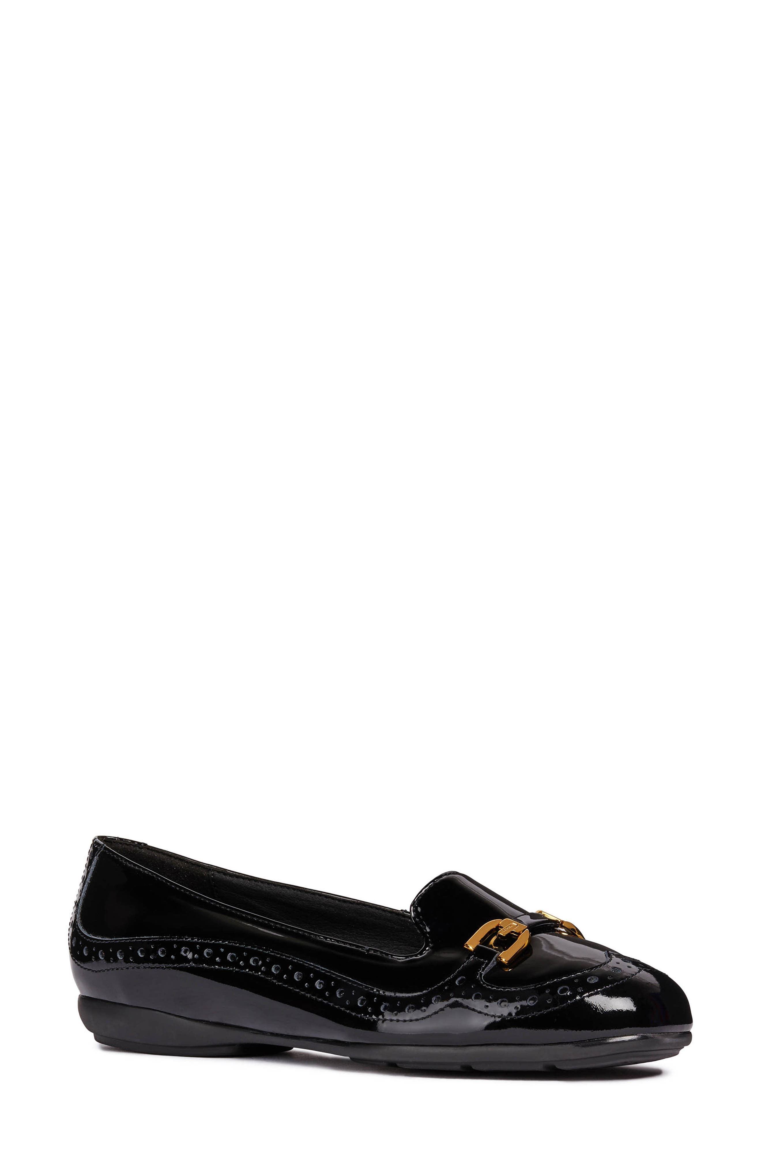 Annytah Loafer,                             Main thumbnail 1, color,                             BLACK FAUX PATENT LEATHER