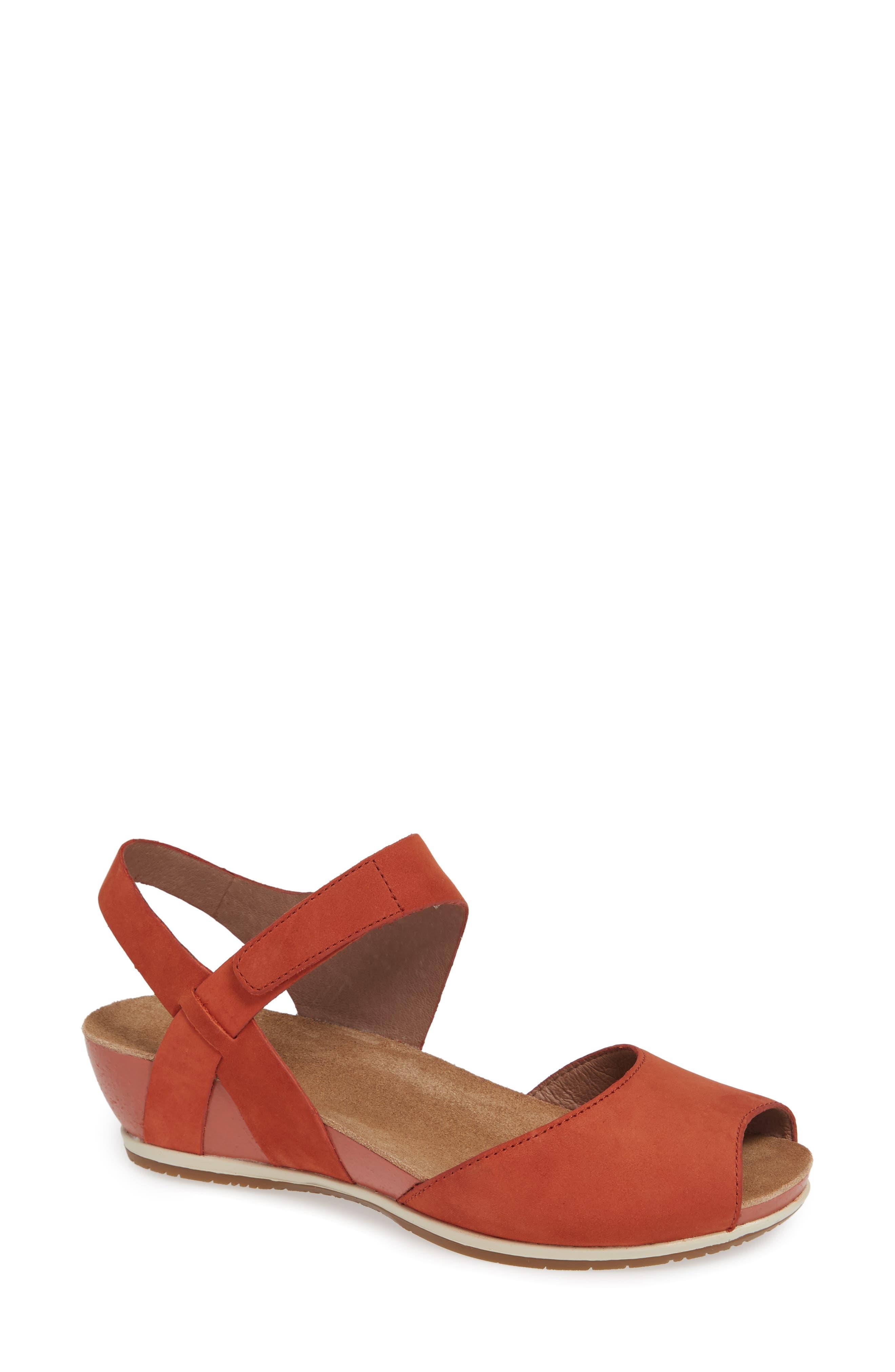 a7a133c3167c Dansko vera sandal main color coral nubuck leather jpeg 780x838 Dansko vera  sandals