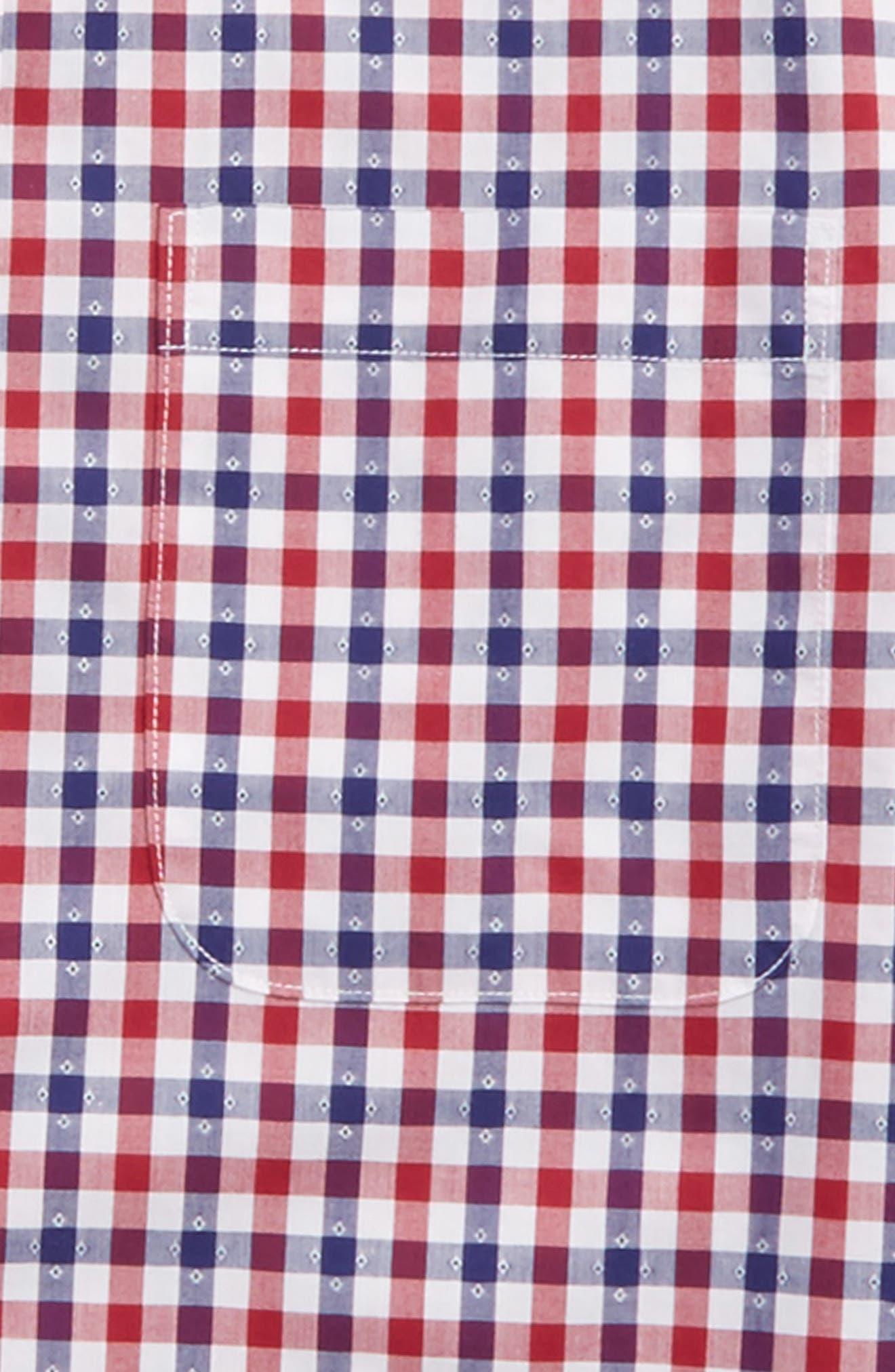 Dot Gingham Sport Shirt,                             Alternate thumbnail 2, color,                             601
