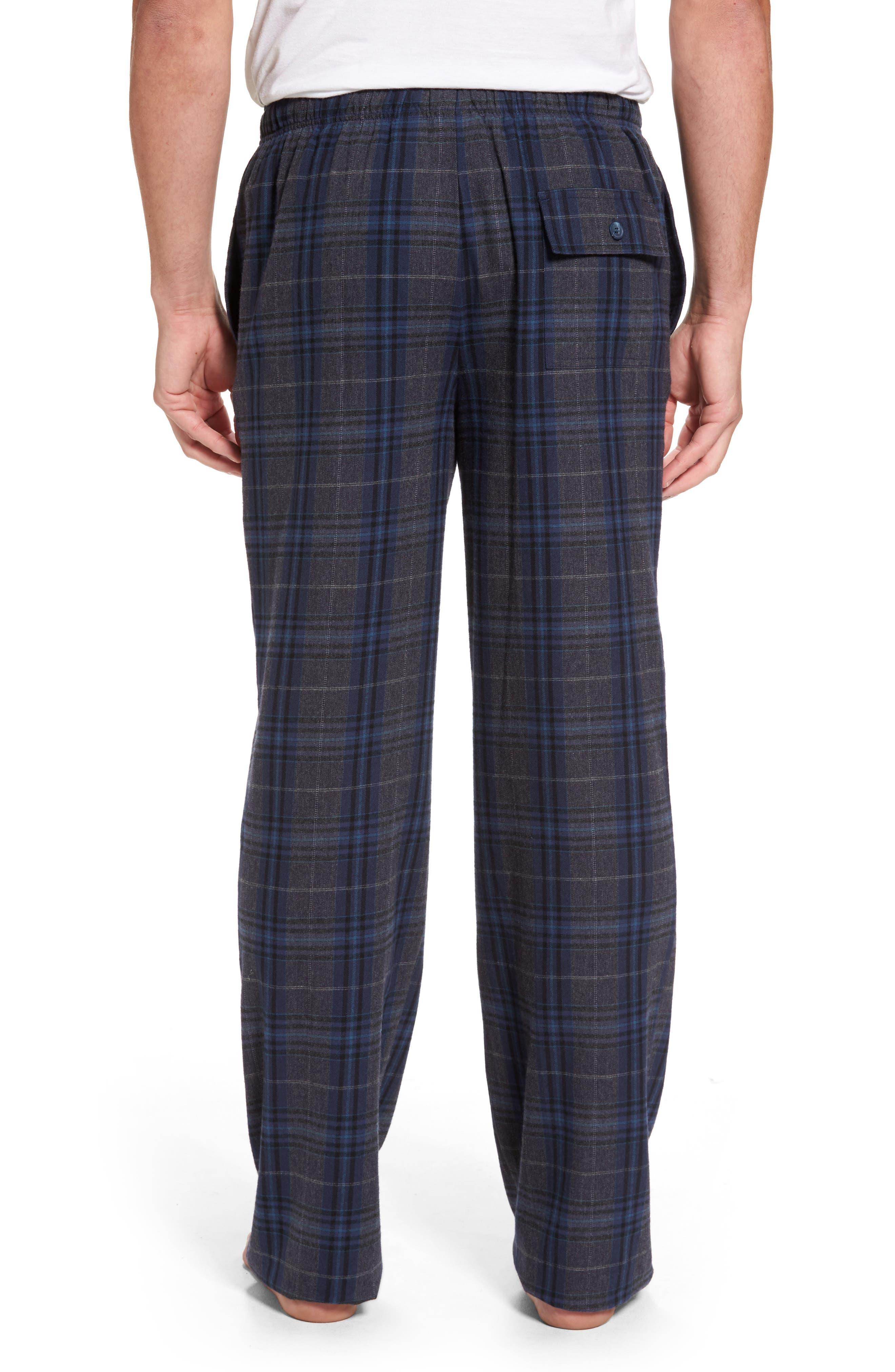 Bryson Plaid Flannel Lounge Pants,                             Alternate thumbnail 2, color,                             030