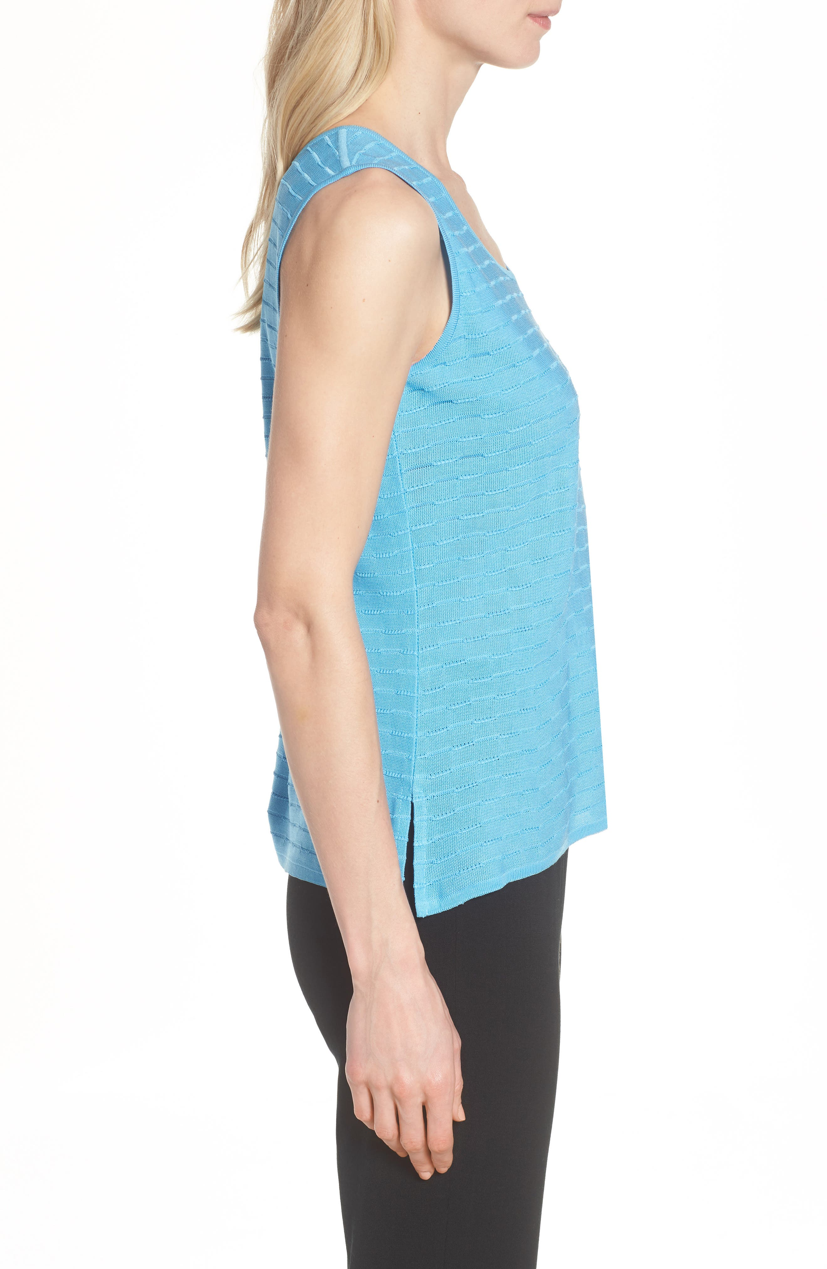 Textured Tank,                             Alternate thumbnail 3, color,                             BLUEBONNET