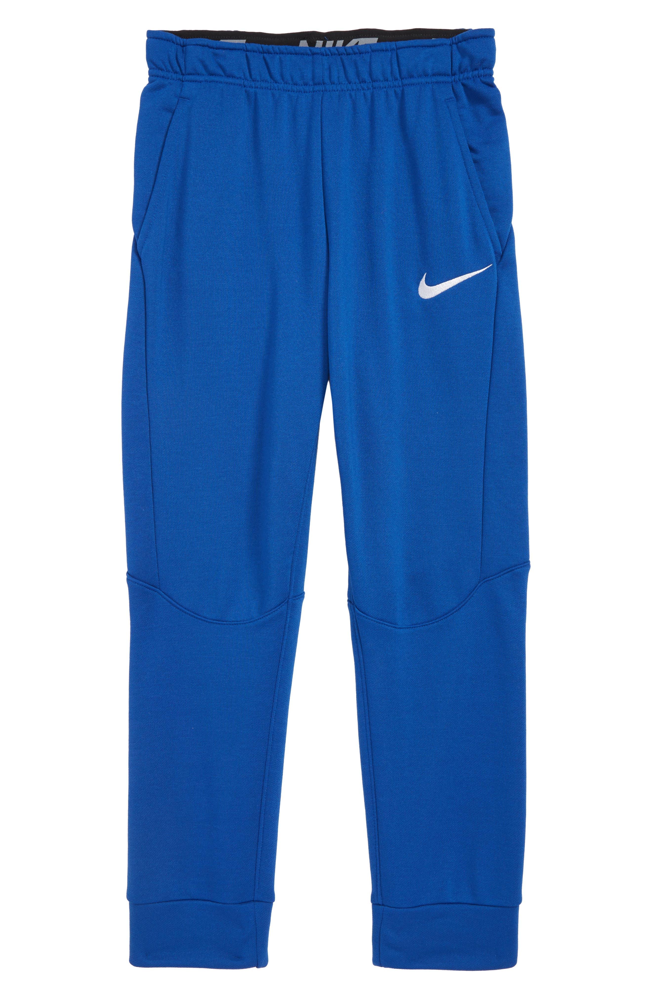 NIKE Dry Fleece Training Pants, Main, color, INDIGO FORCE/ WHITE