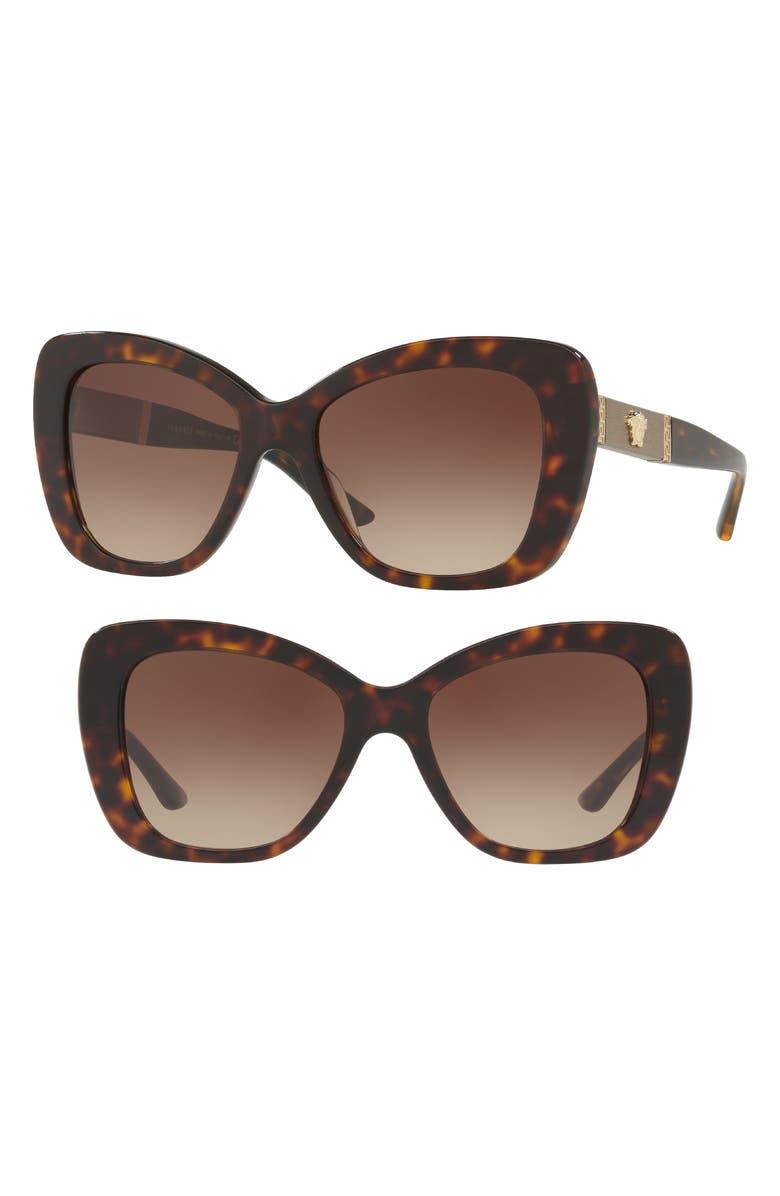 6f6d41a210 Versace 54Mm Retro Sunglasses - Dark Havana Gradient