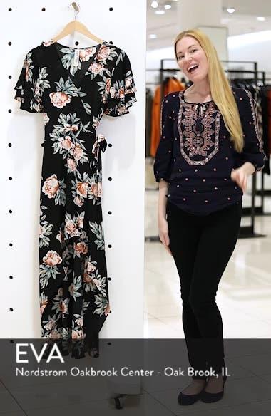 Ruffle Sleeve Floral Maxi Dress, sales video thumbnail