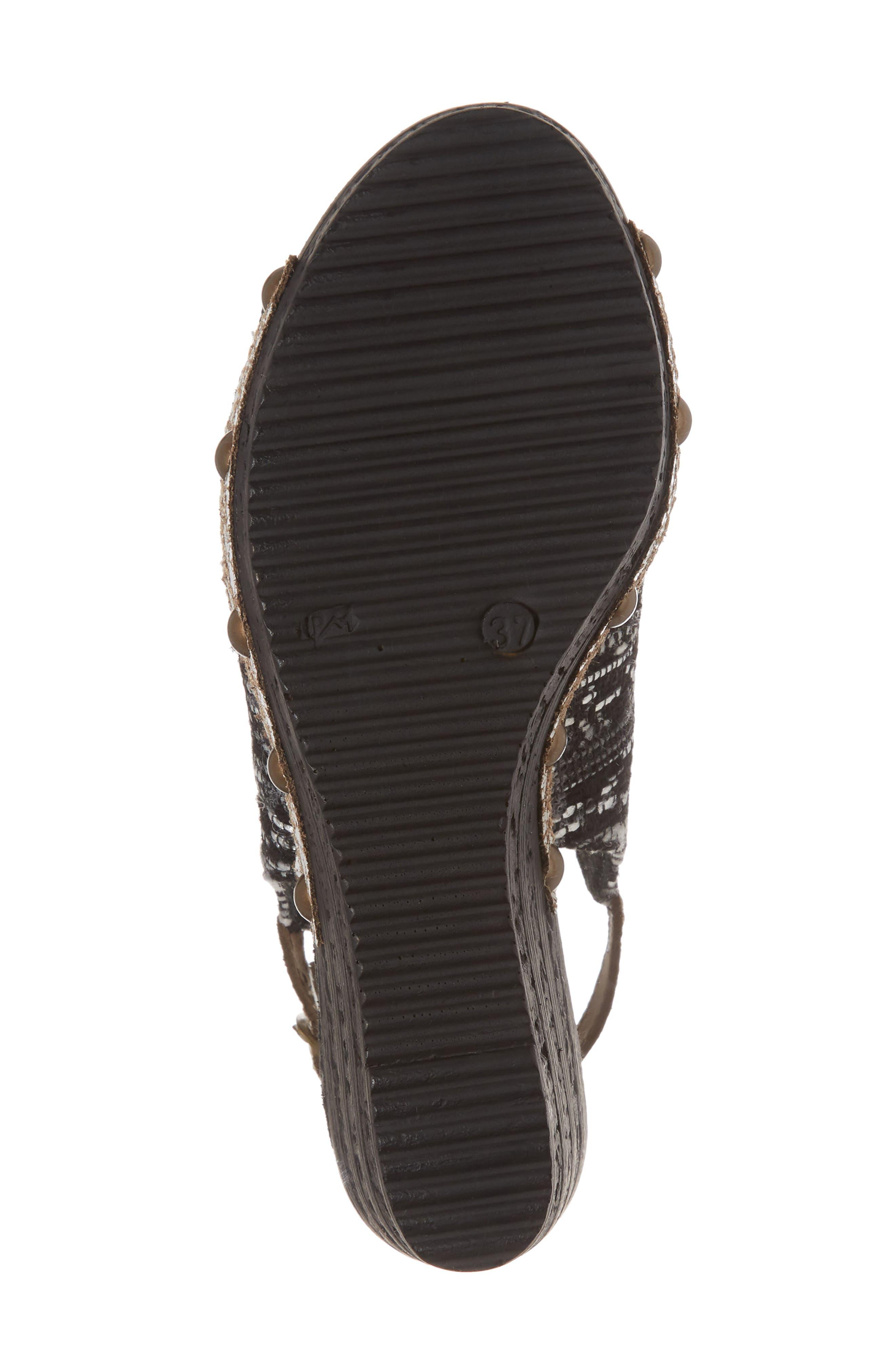 SBICCA,                             Sabari Peep Toe Wedge Sandal,                             Alternate thumbnail 6, color,                             001