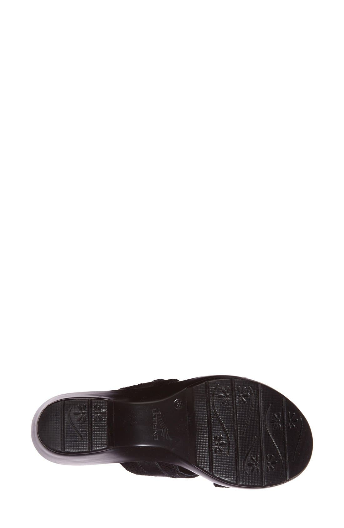 'Jessie' Double Strap Sandal,                             Alternate thumbnail 4, color,                             001