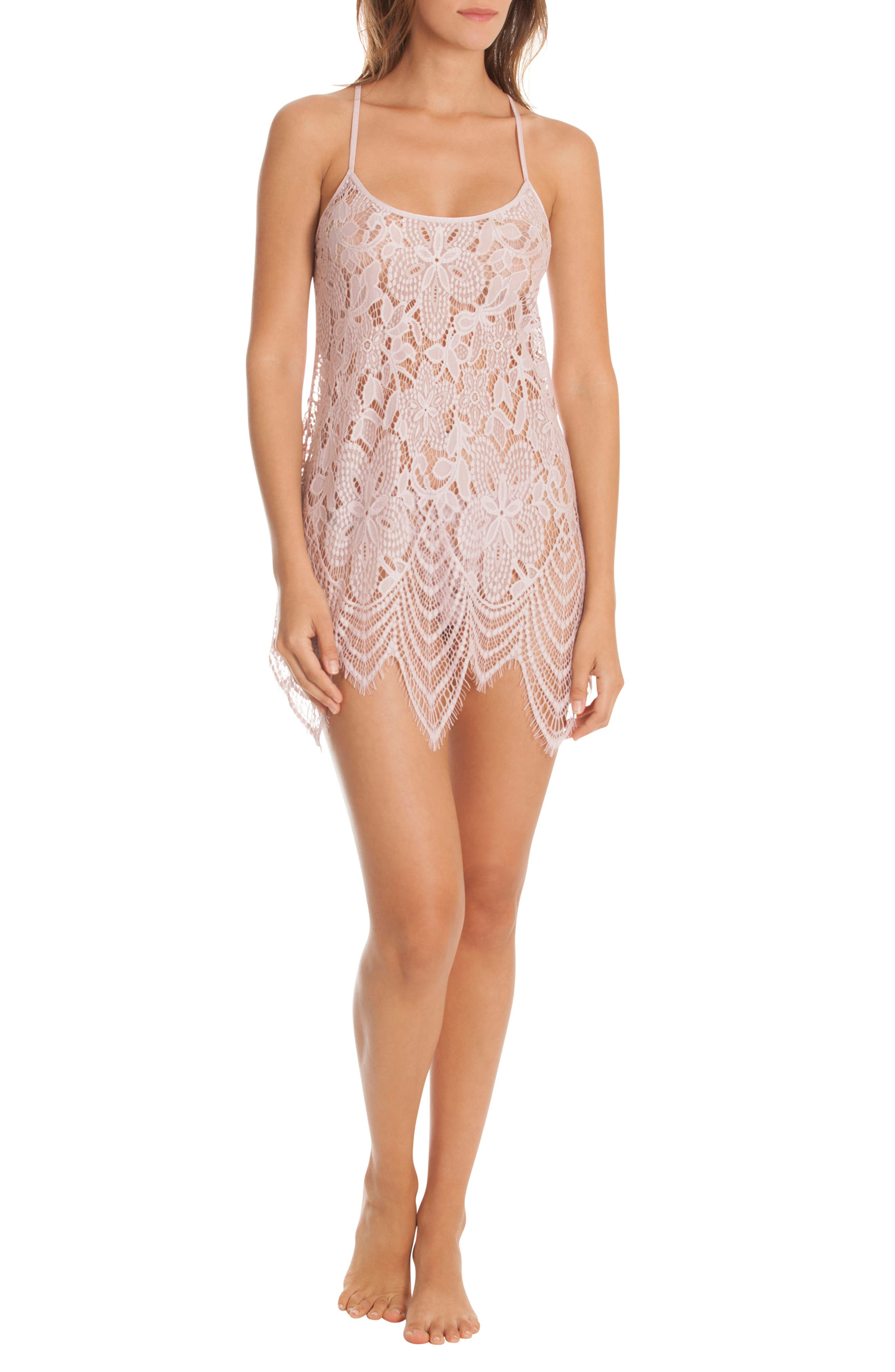 Lace Chemise & Panties,                             Alternate thumbnail 5, color,                             ORCHID