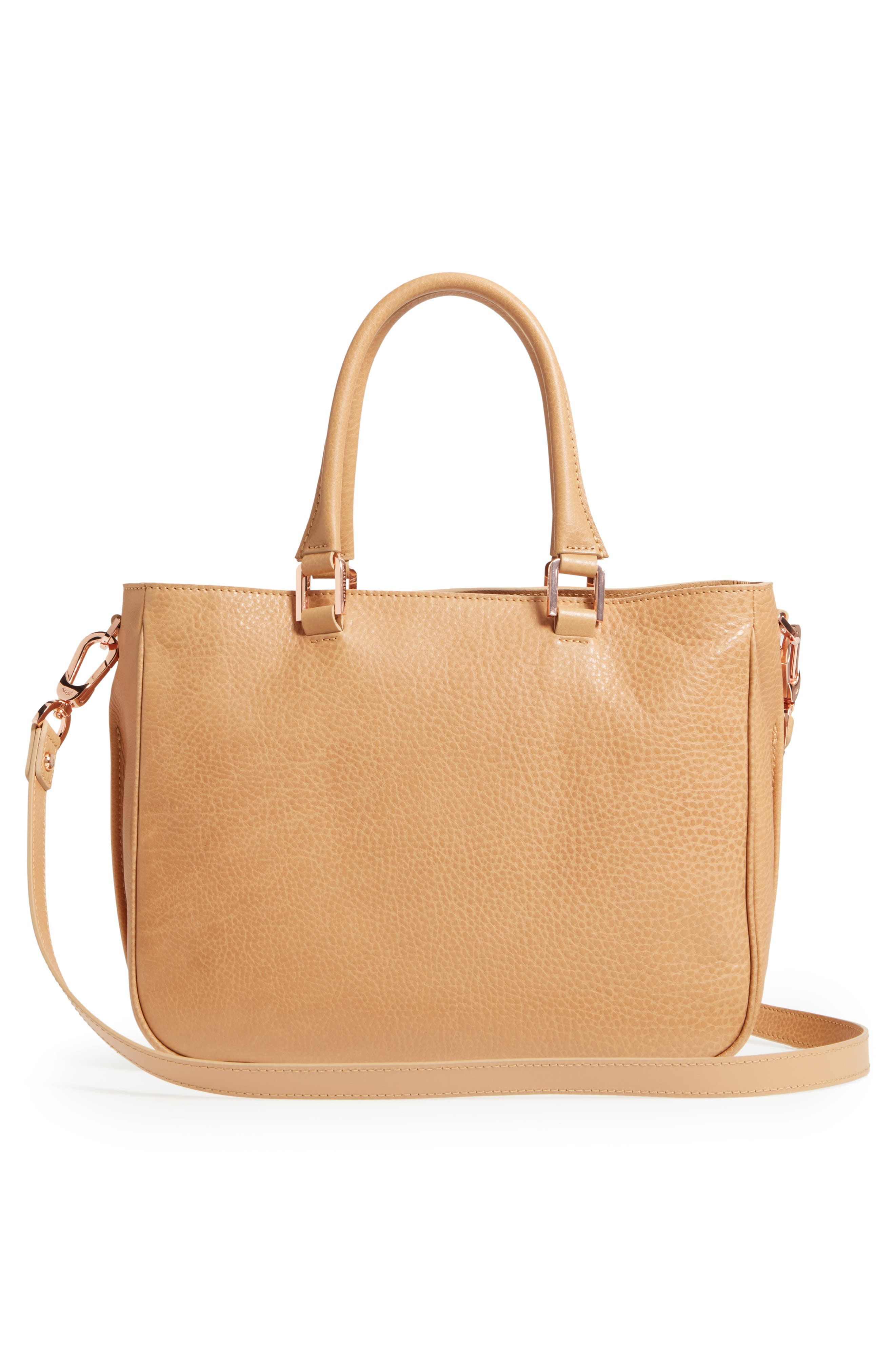 Mystery Leather Satchel,                             Alternate thumbnail 3, color,