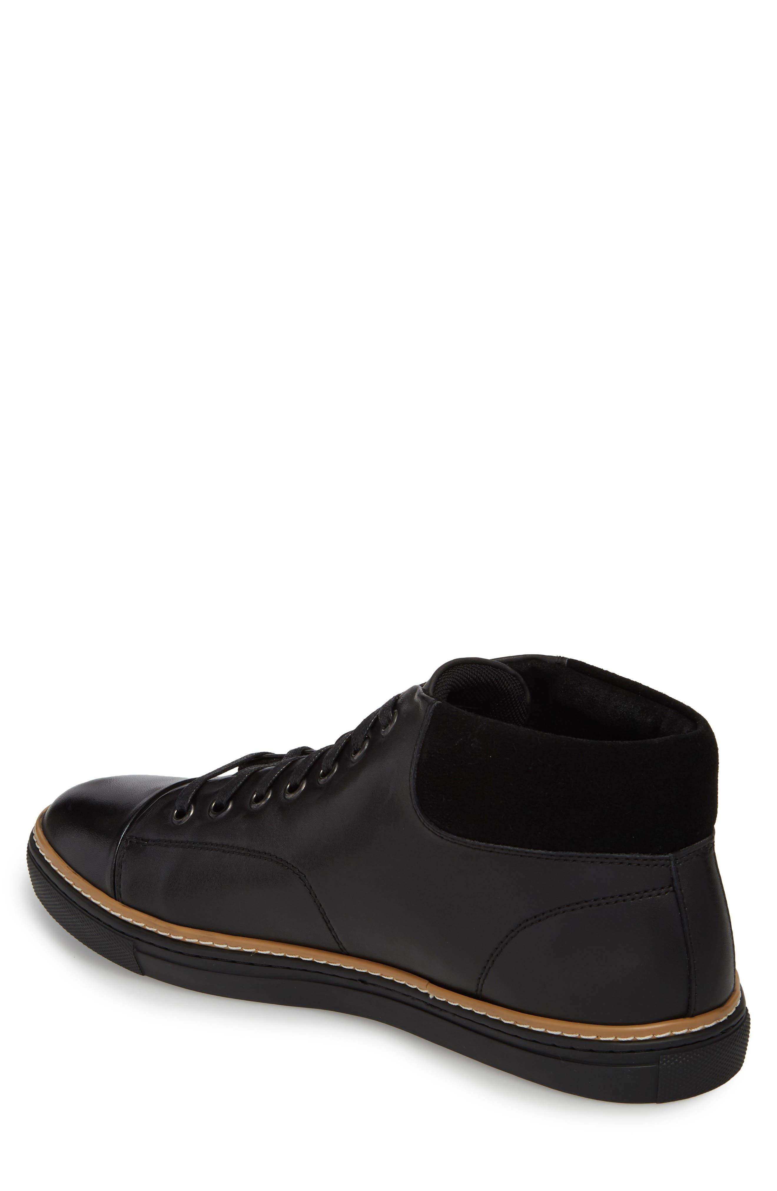 Grove Sneaker,                             Alternate thumbnail 2, color,                             BLACK LEATHER