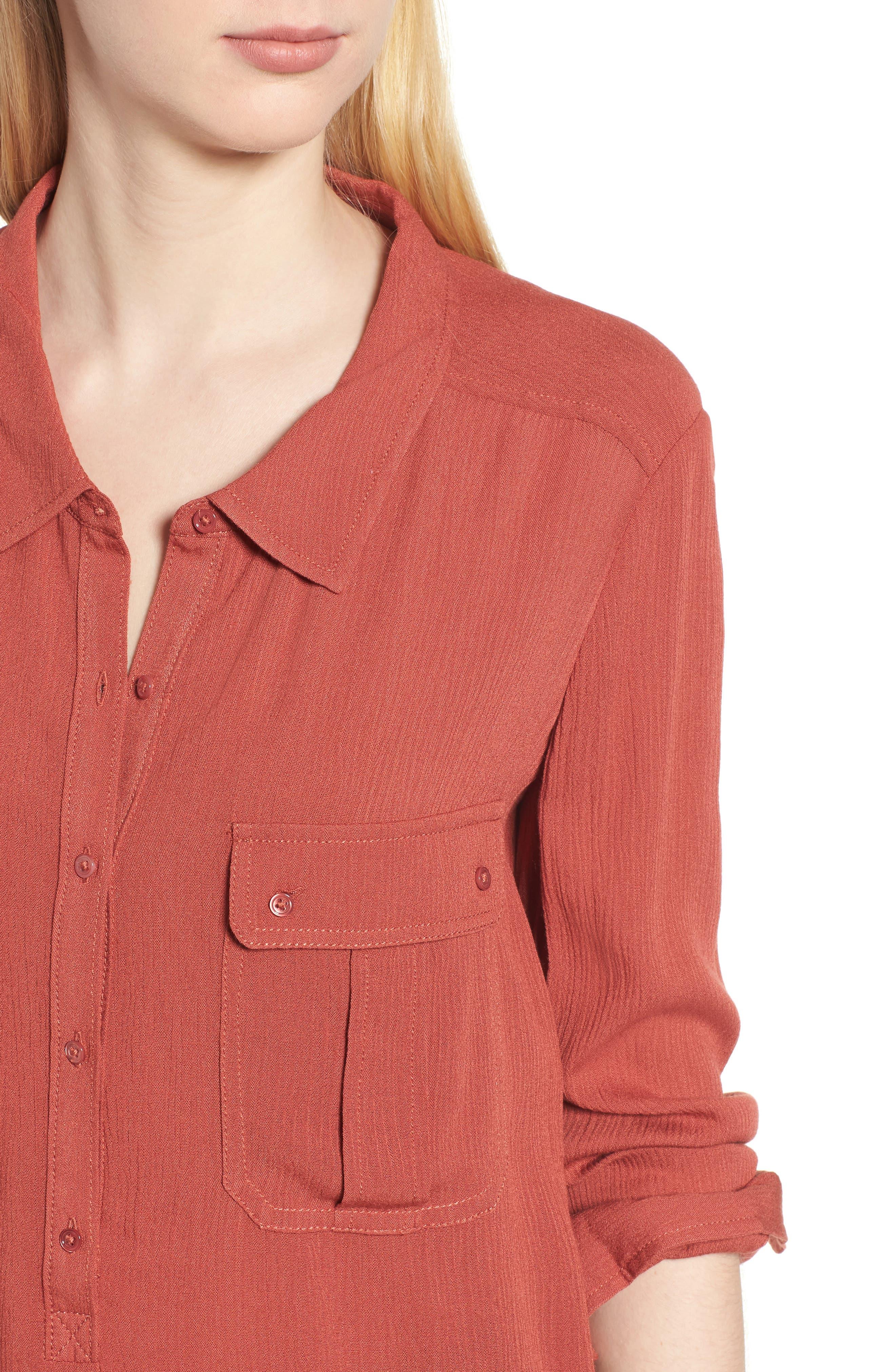 AG,                             Nevada Cotton Henley Shirt,                             Alternate thumbnail 4, color,                             600