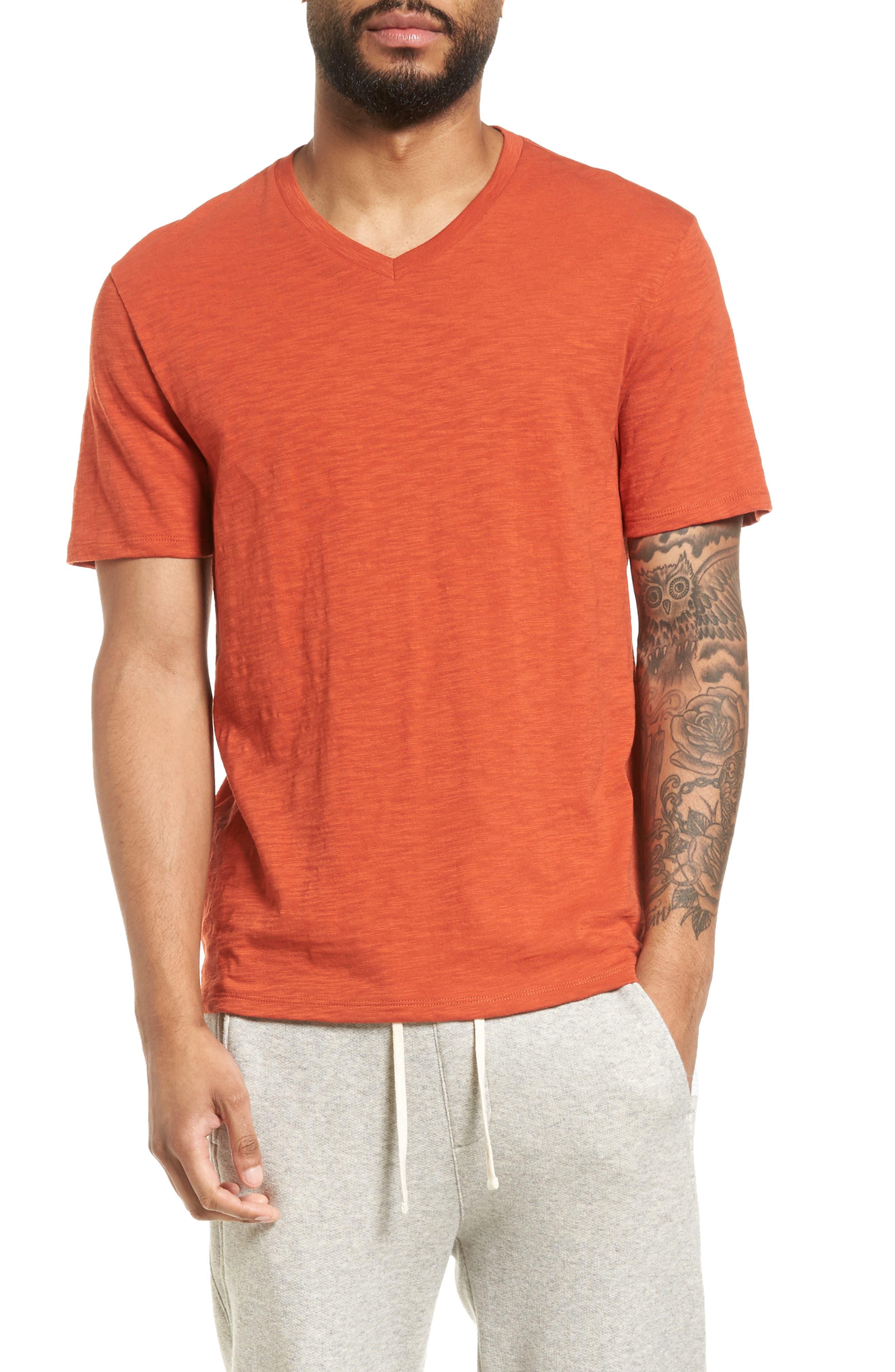 Slim Fit Slub V-Neck T-Shirt,                             Main thumbnail 2, color,