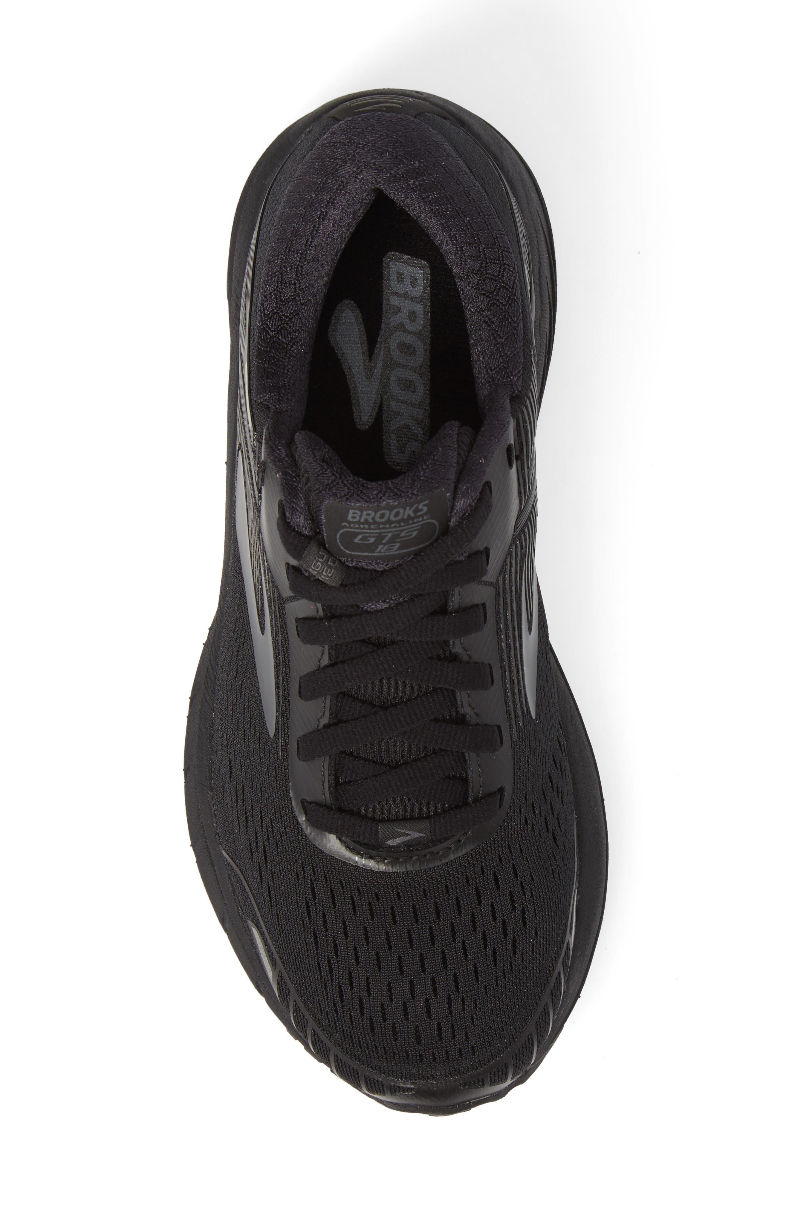 Adrenaline GTS 18 Running Shoe,                             Alternate thumbnail 5, color,                             BLACK/ BLACK