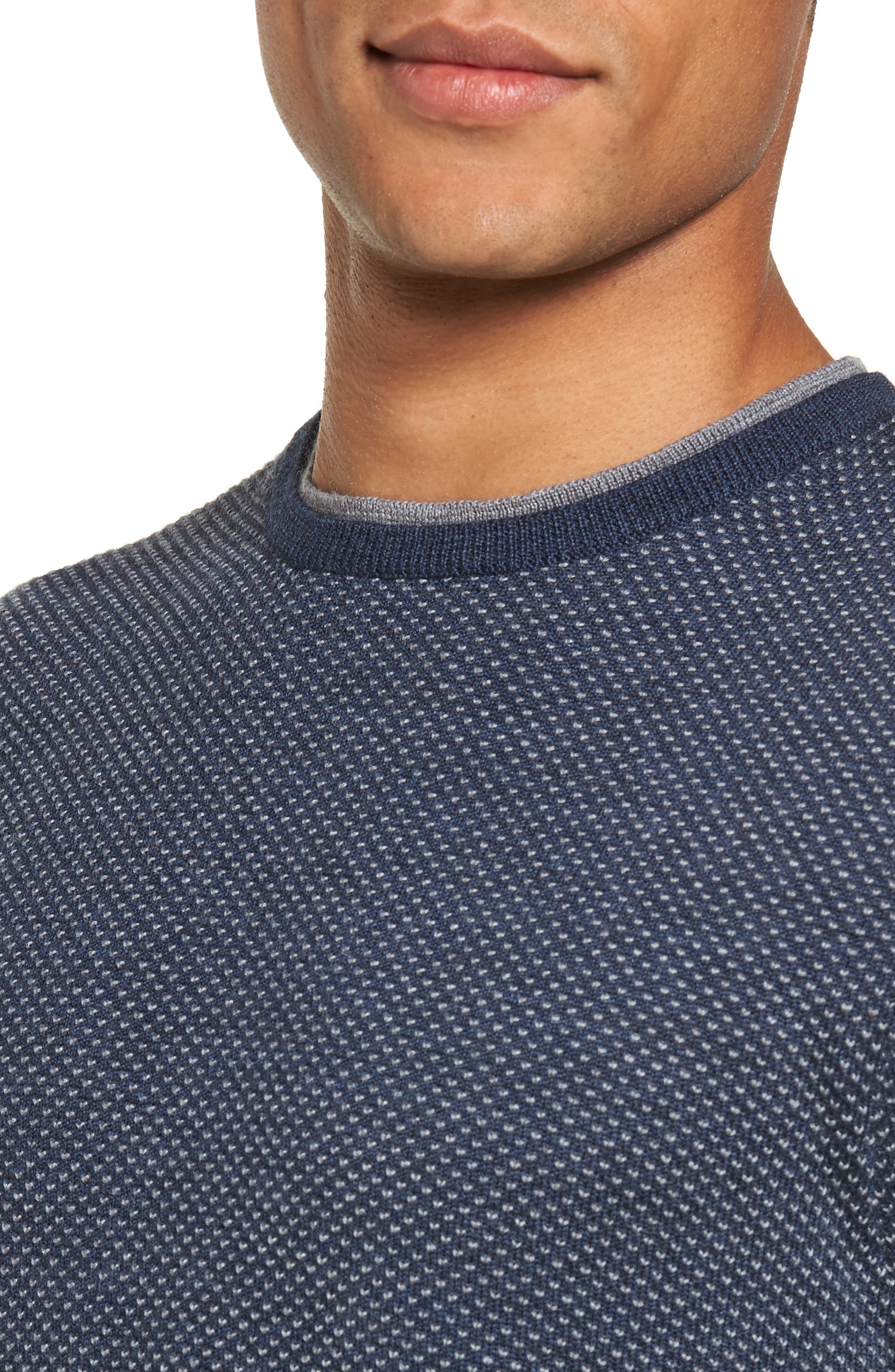 Textured Merino Wool Sweater,                             Alternate thumbnail 4, color,                             410