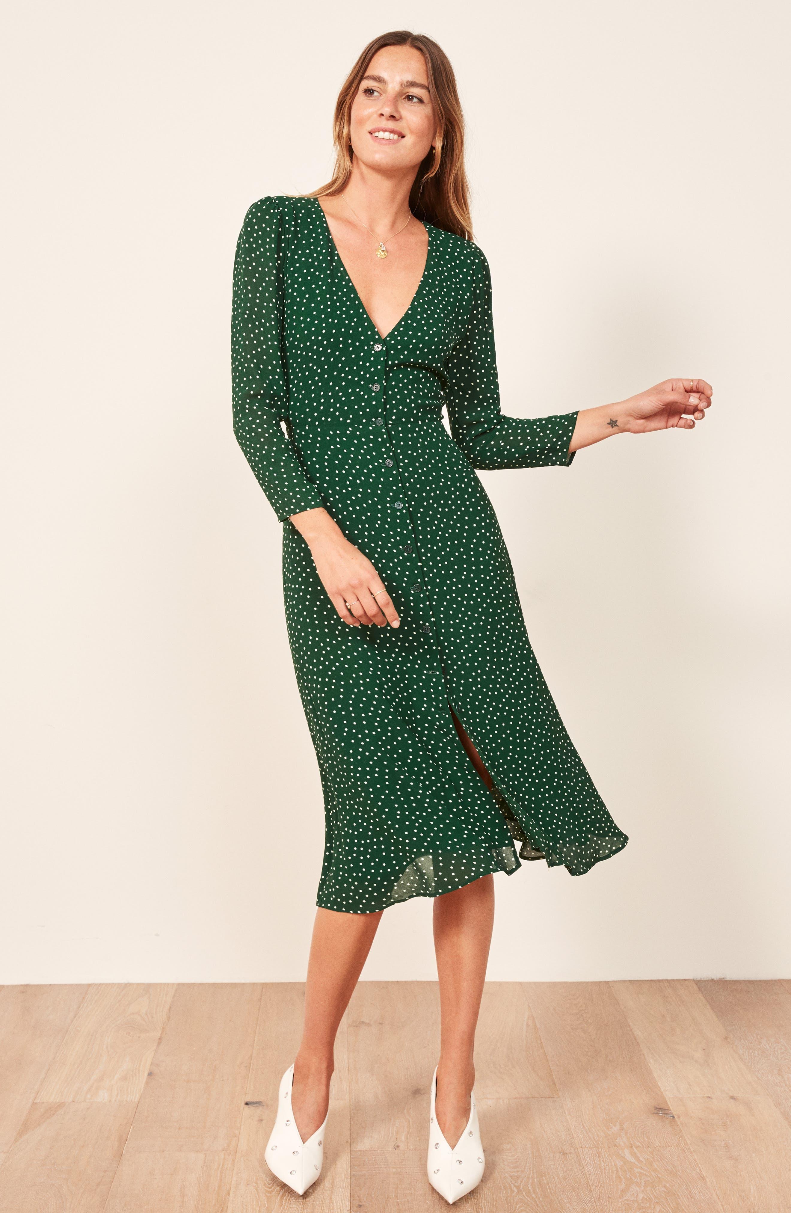 Alma Midi Dress,                             Alternate thumbnail 6, color,                             ROSEMARY