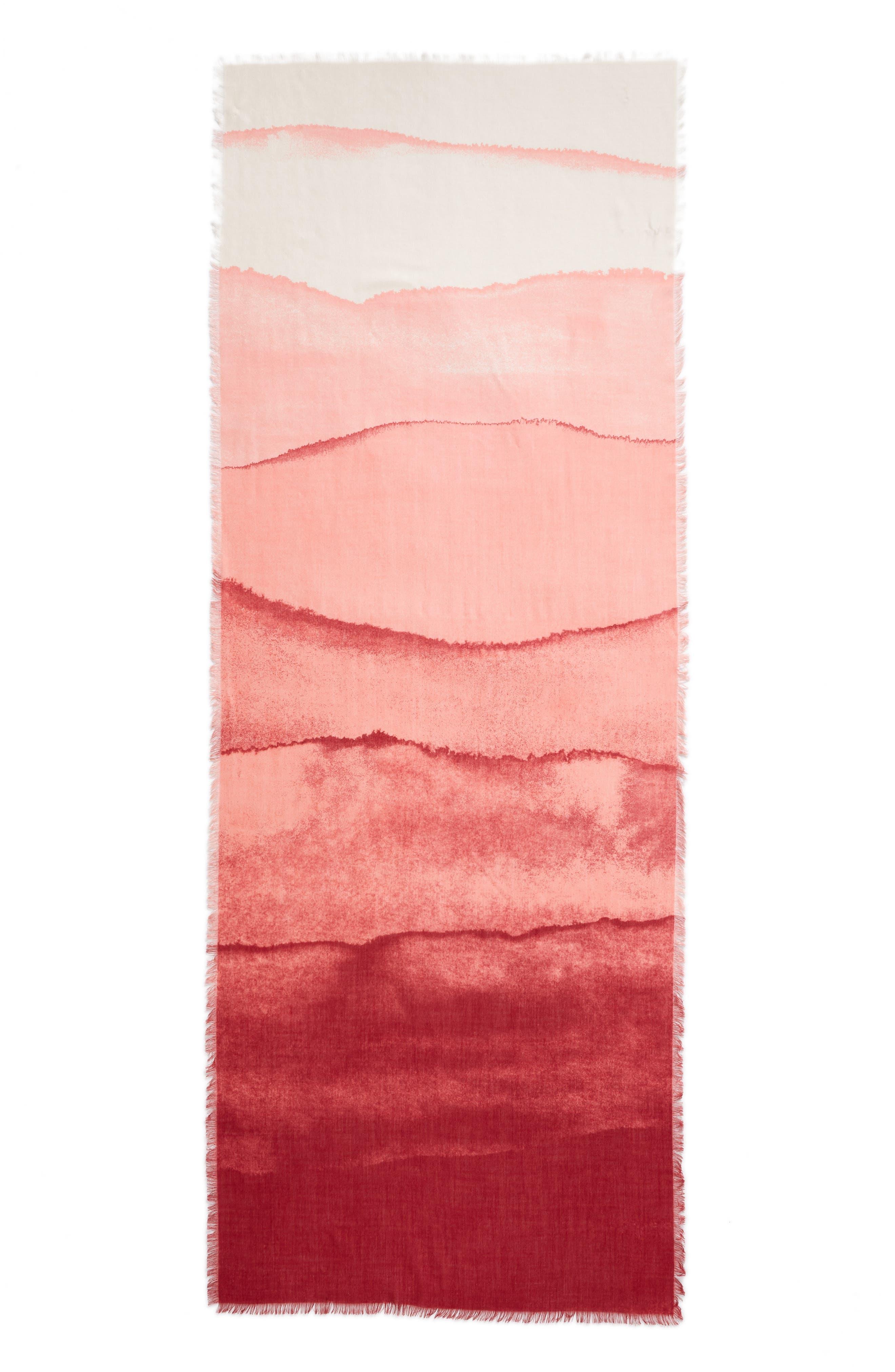 Eyelash Trim Print Cashmere & Silk Wrap,                             Alternate thumbnail 87, color,