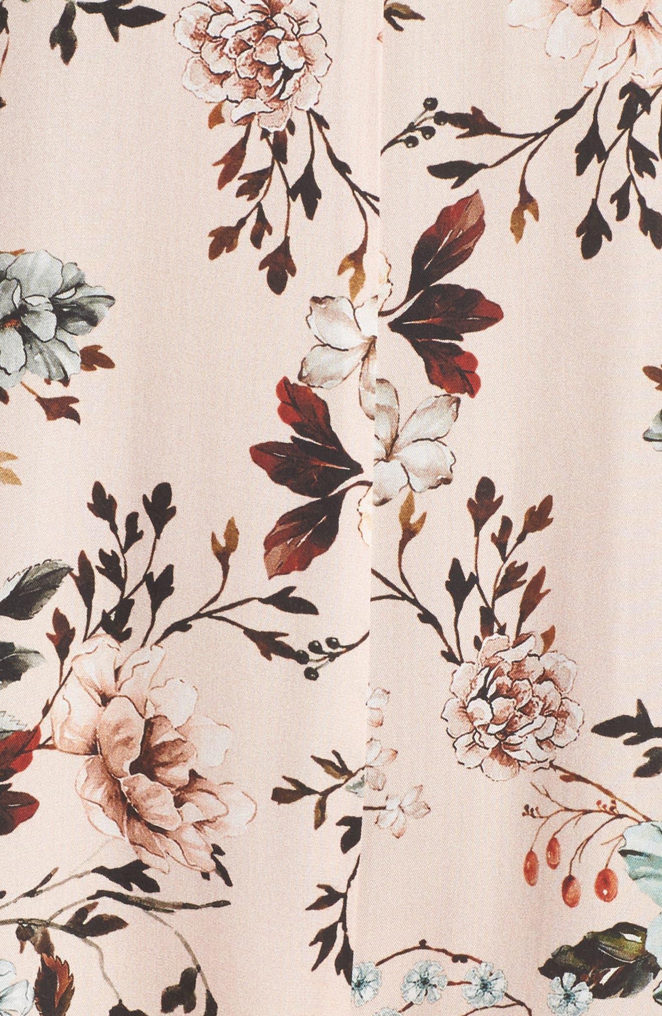 Floral Santi Crop Jumpsuit,                             Alternate thumbnail 5, color,                             950