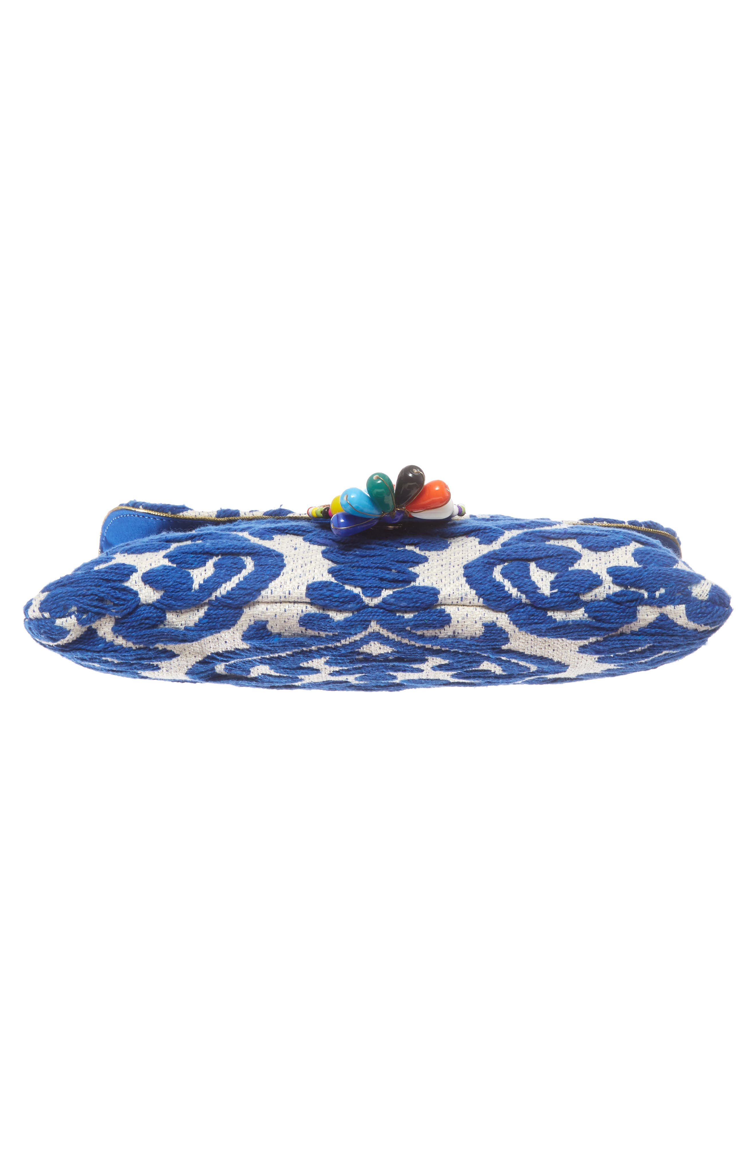 Beaded & Embroidered Clutch,                             Alternate thumbnail 6, color,                             400