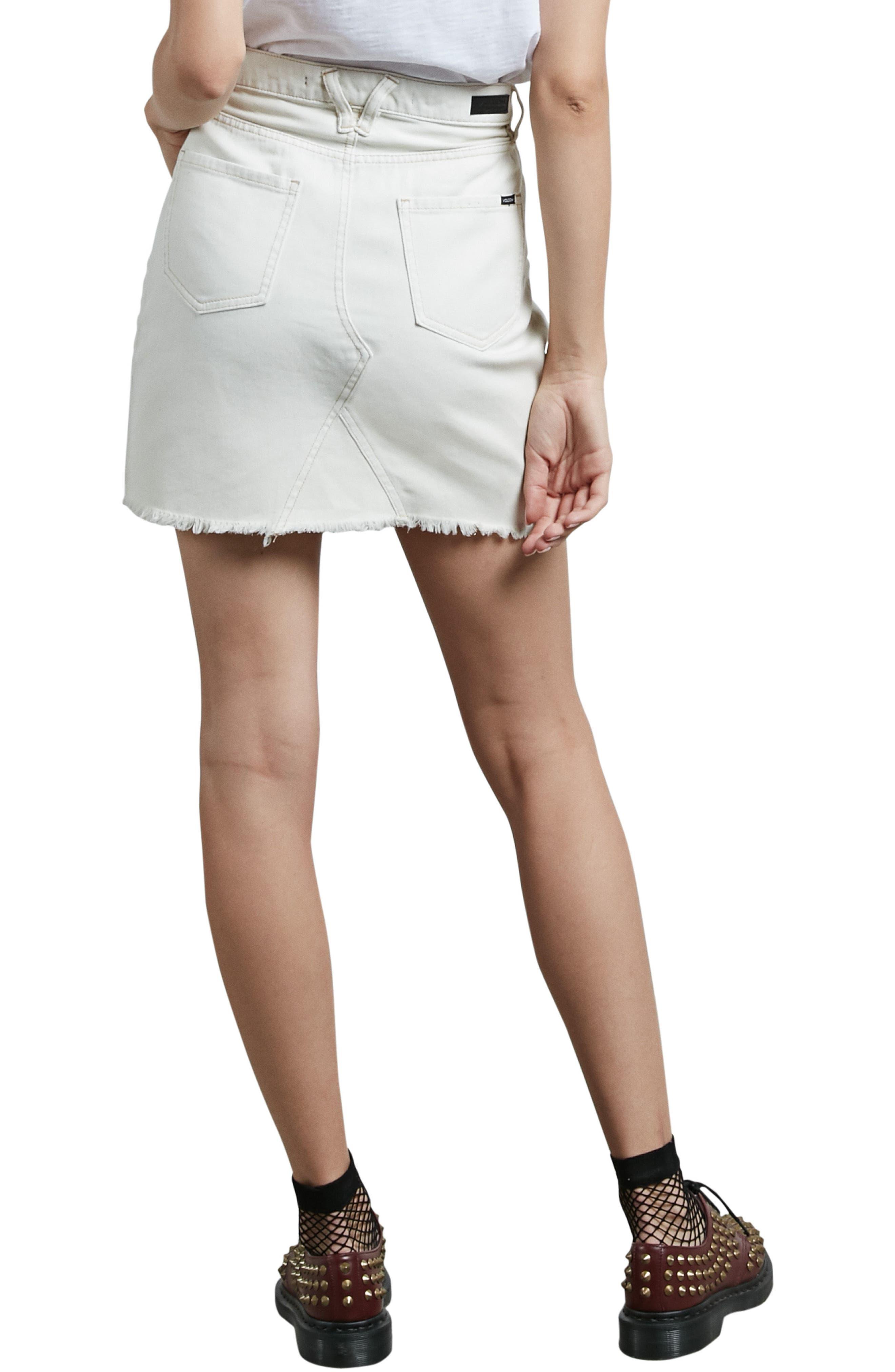 Stone Denim Miniskirt,                             Alternate thumbnail 2, color,                             903