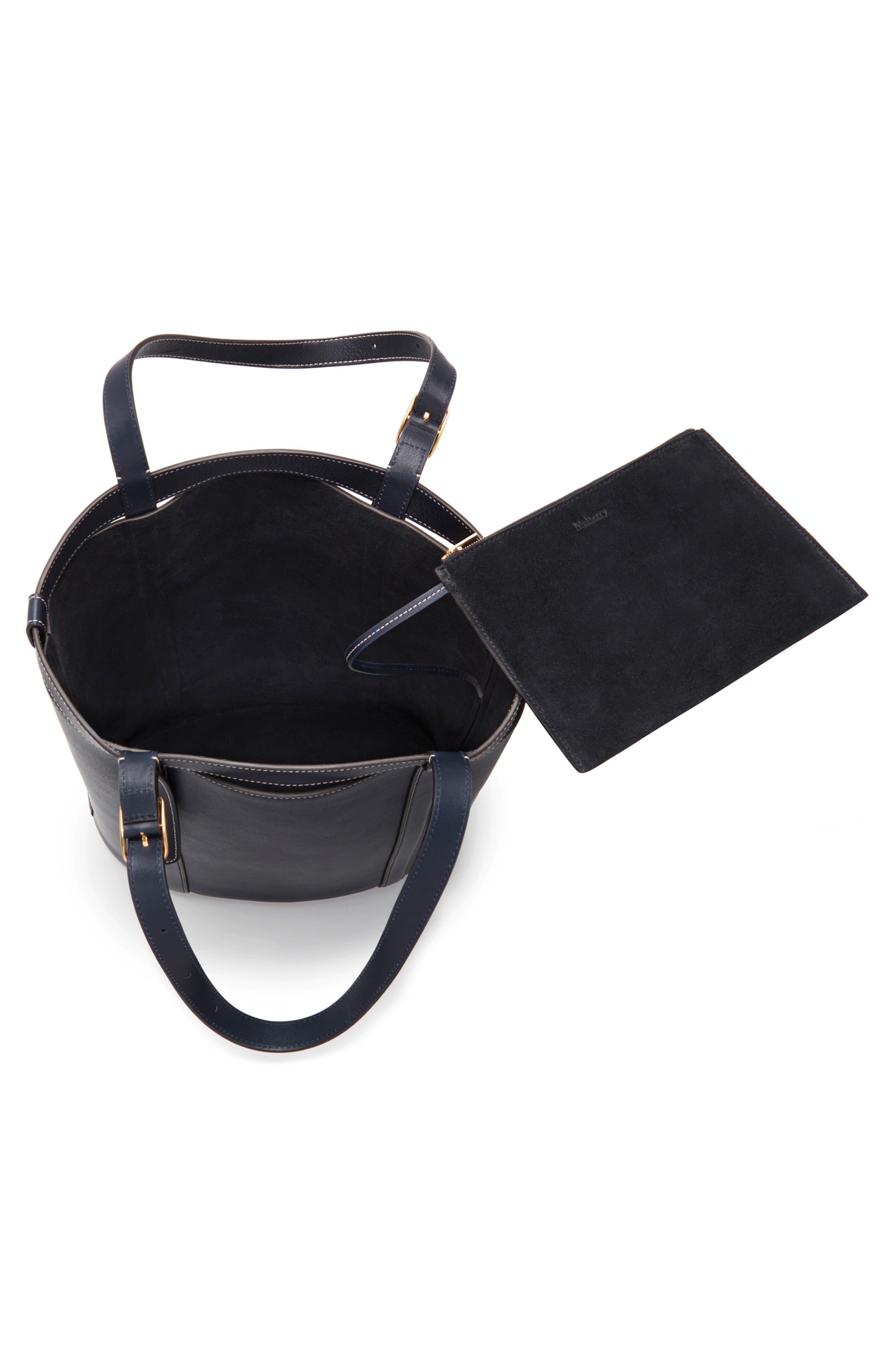 Small Wilton Leather Bucket Bag,                             Alternate thumbnail 3, color,                             MIDNIGHT