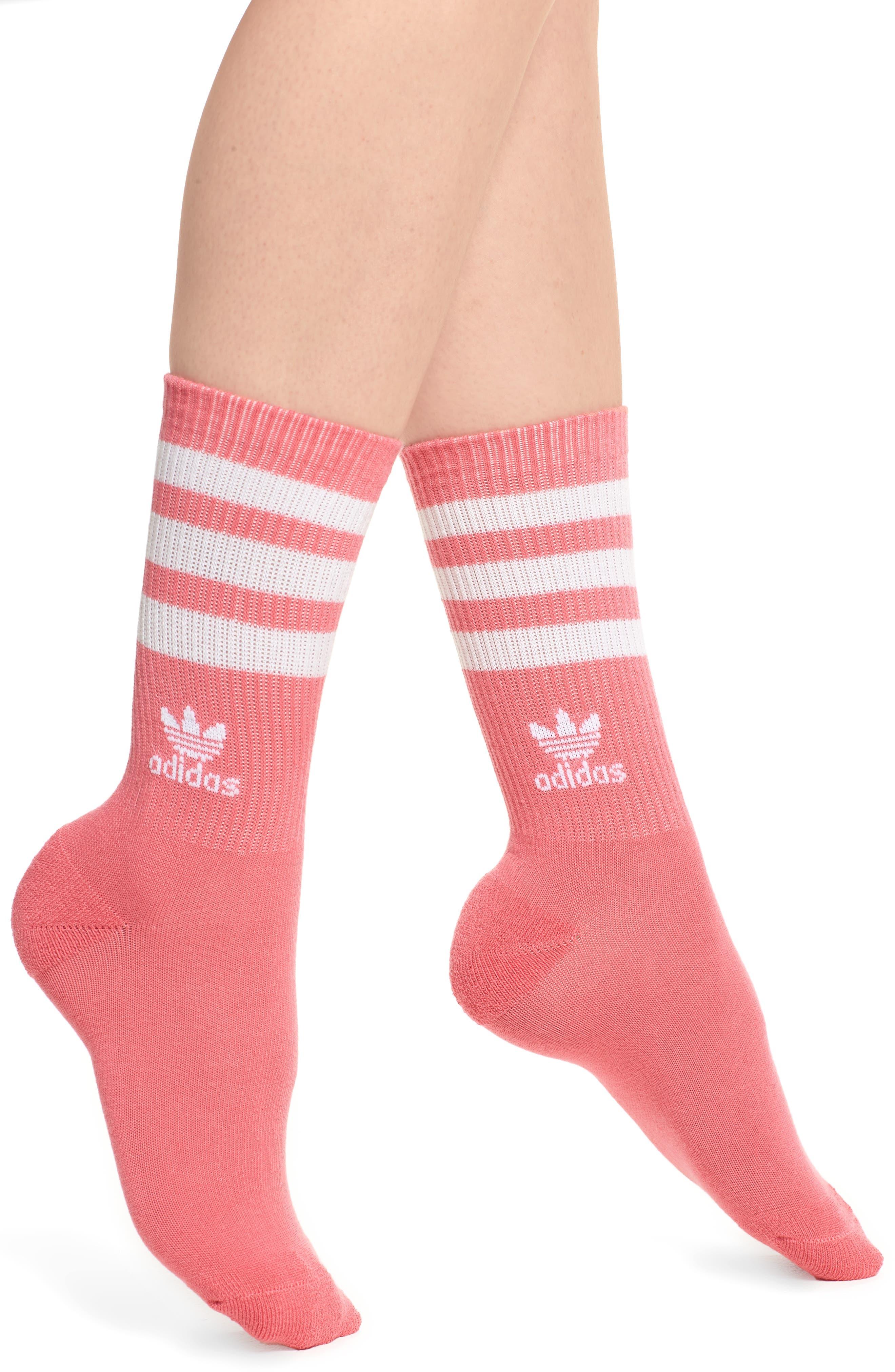 3-Stripes Crew Socks,                             Main thumbnail 1, color,