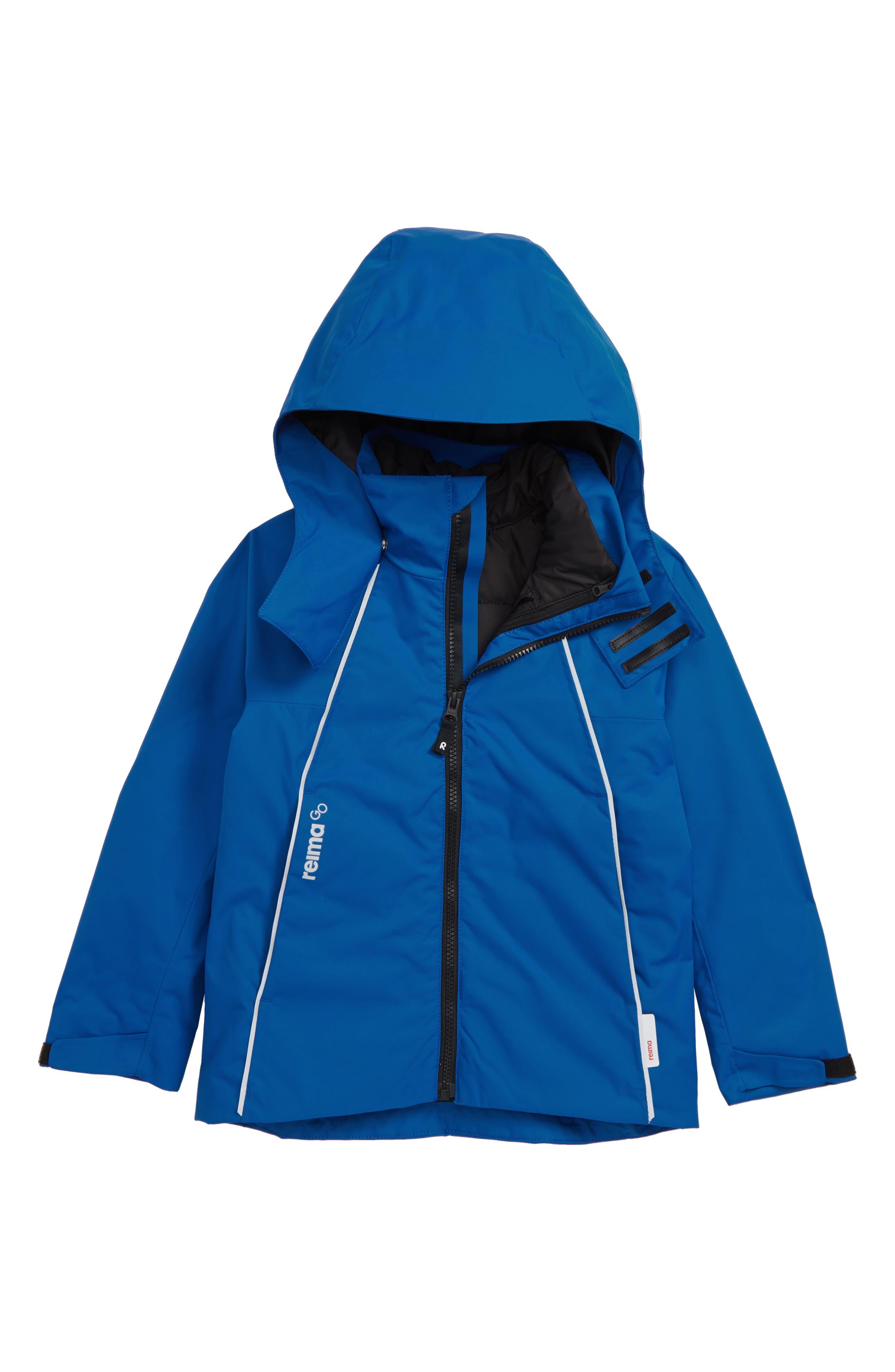 Brisk Reimatec<sup>®</sup> 3-in-1 Windproof & Waterproof Jacket,                         Main,                         color, BLUE
