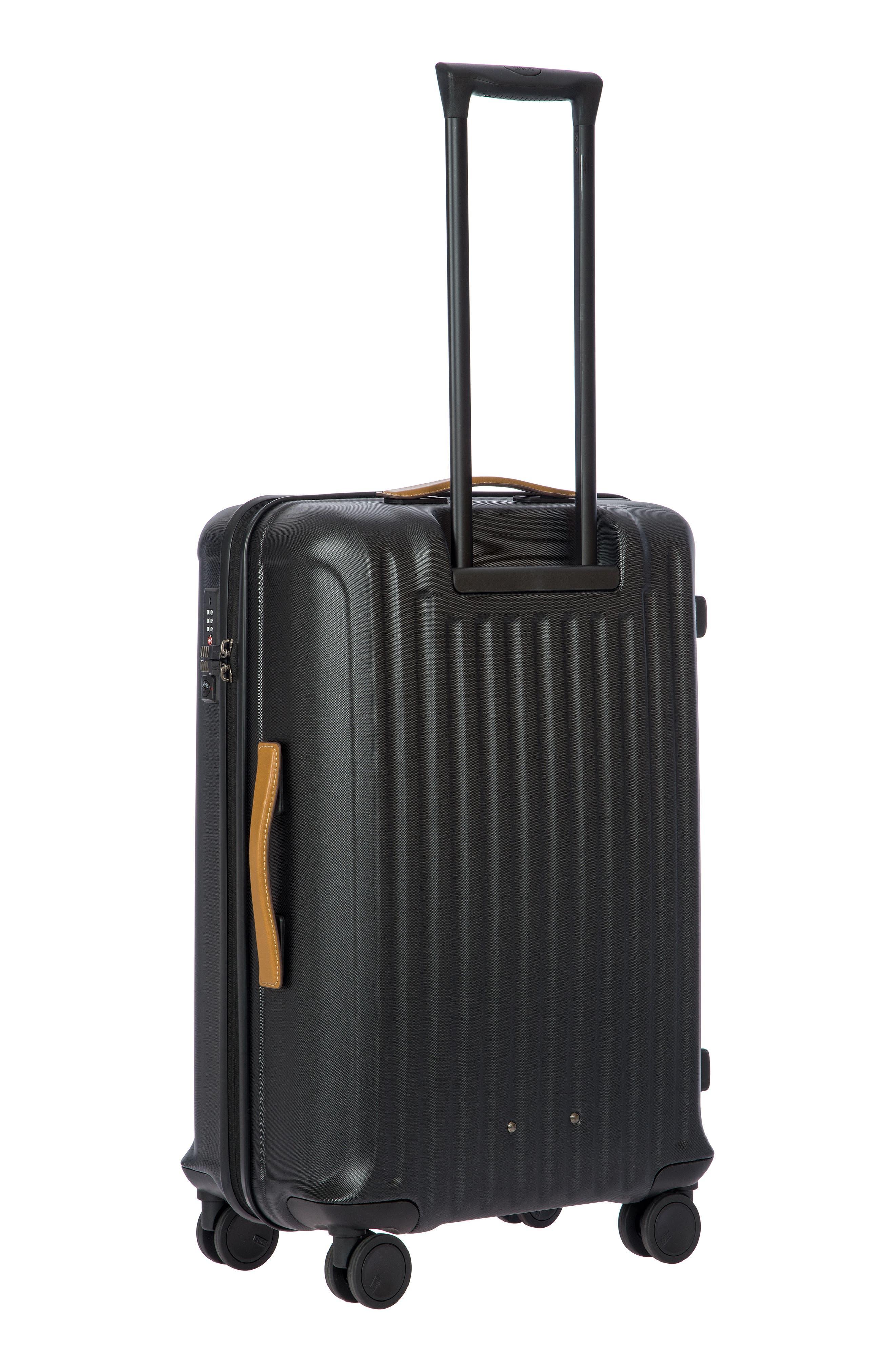 Capri 27-Inch Rolling Suitcase,                             Alternate thumbnail 4, color,                             MATTE BLACK